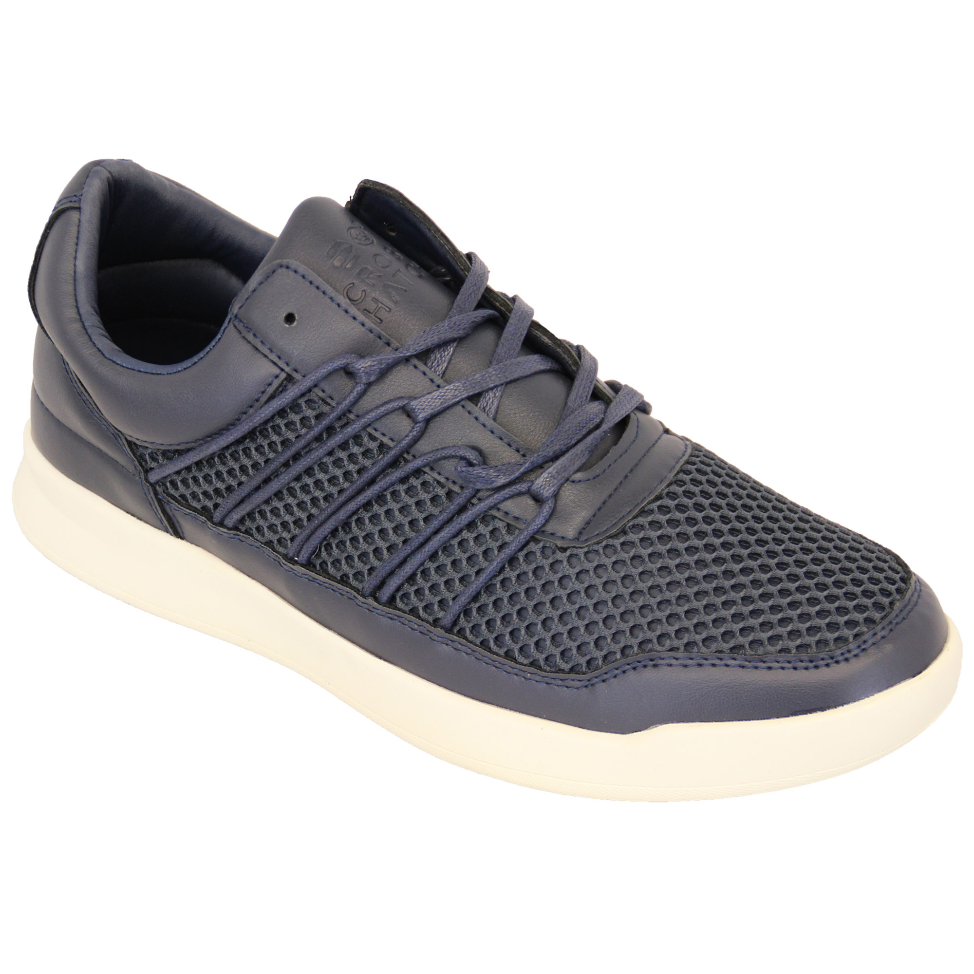 Mens-Trainers-Crosshatch-Jogging-Shoes-Lace-Up-Walking-Running-Sports-Gym-Mesh thumbnail 9