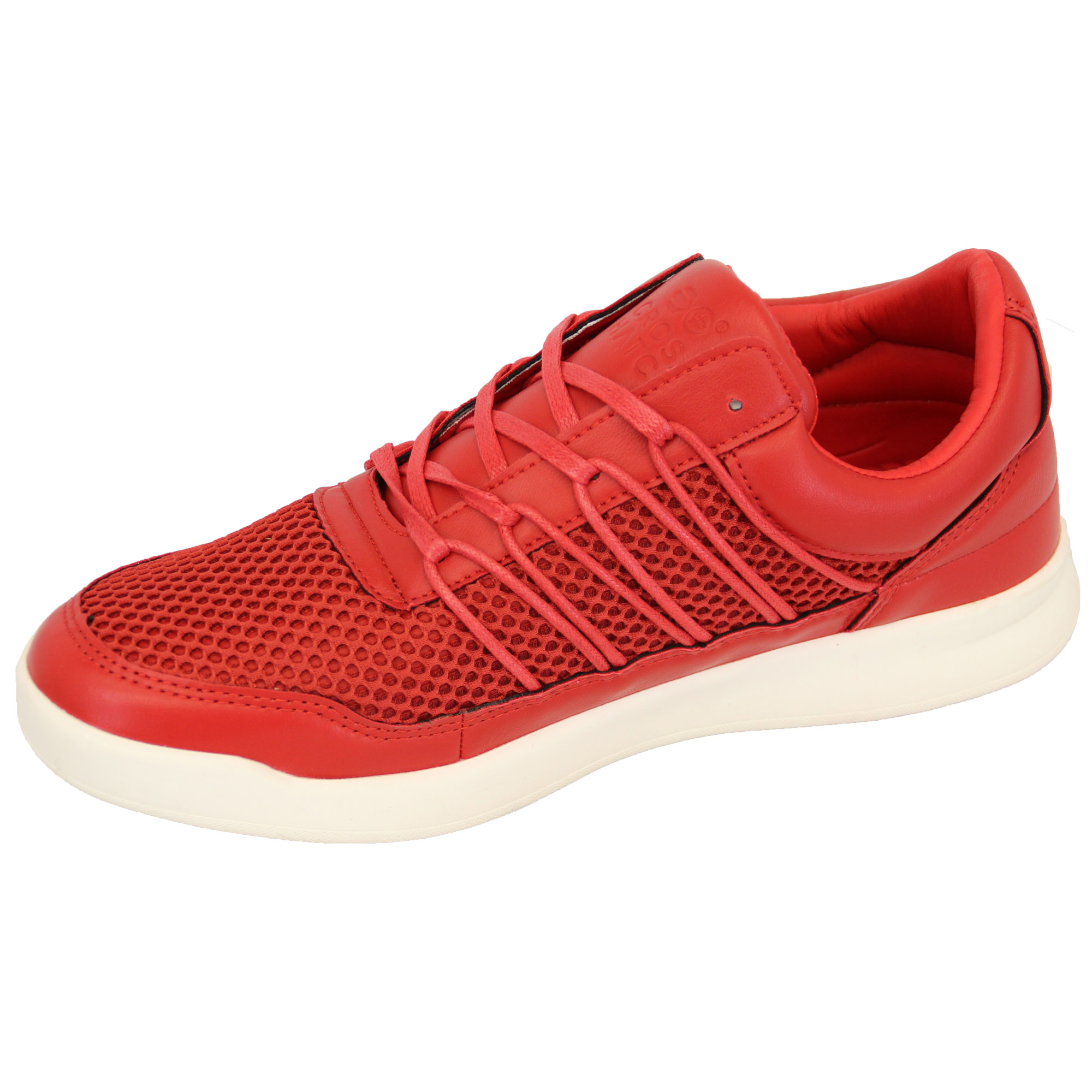 Mens-Trainers-Crosshatch-Jogging-Shoes-Lace-Up-Walking-Running-Sports-Gym-Mesh thumbnail 6