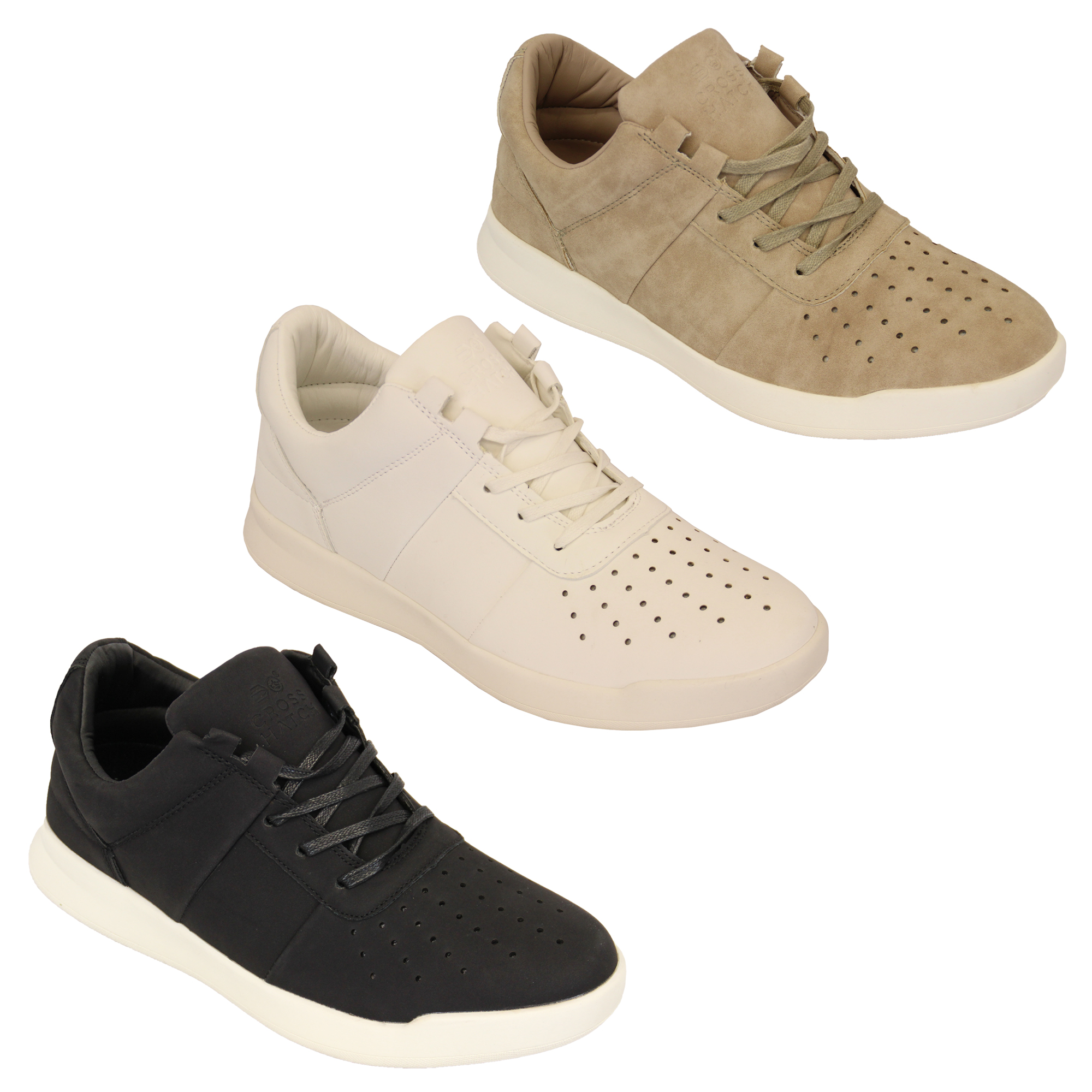 Mens-Trainers-Crosshatch-Running-Lace-Up-Jogging-Sports-Gym-Shoes-Casual-Fashion thumbnail 4
