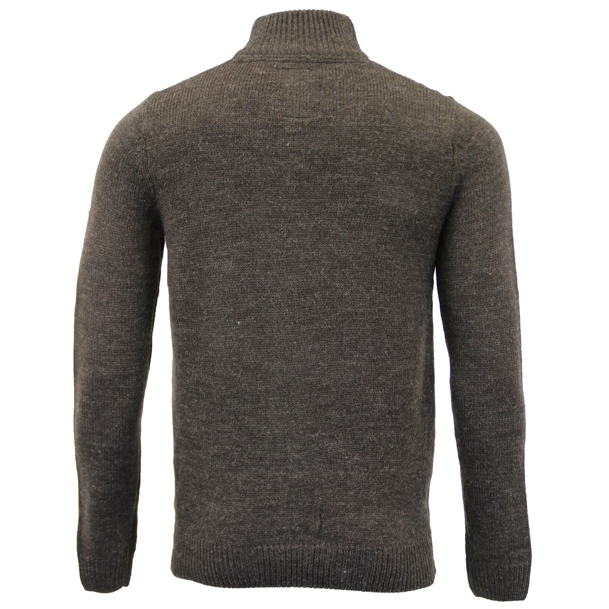 Mens-Wool-Mix-Jumper-Threadbare-Knitted-Sweater-Pullover-Top-Chunky-Zip-Winter thumbnail 15