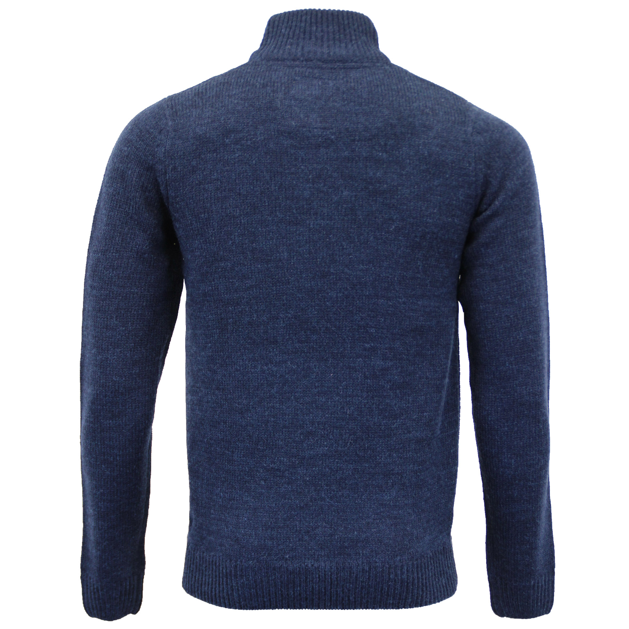 Mens-Wool-Mix-Jumper-Threadbare-Knitted-Sweater-Pullover-Top-Chunky-Zip-Winter thumbnail 24