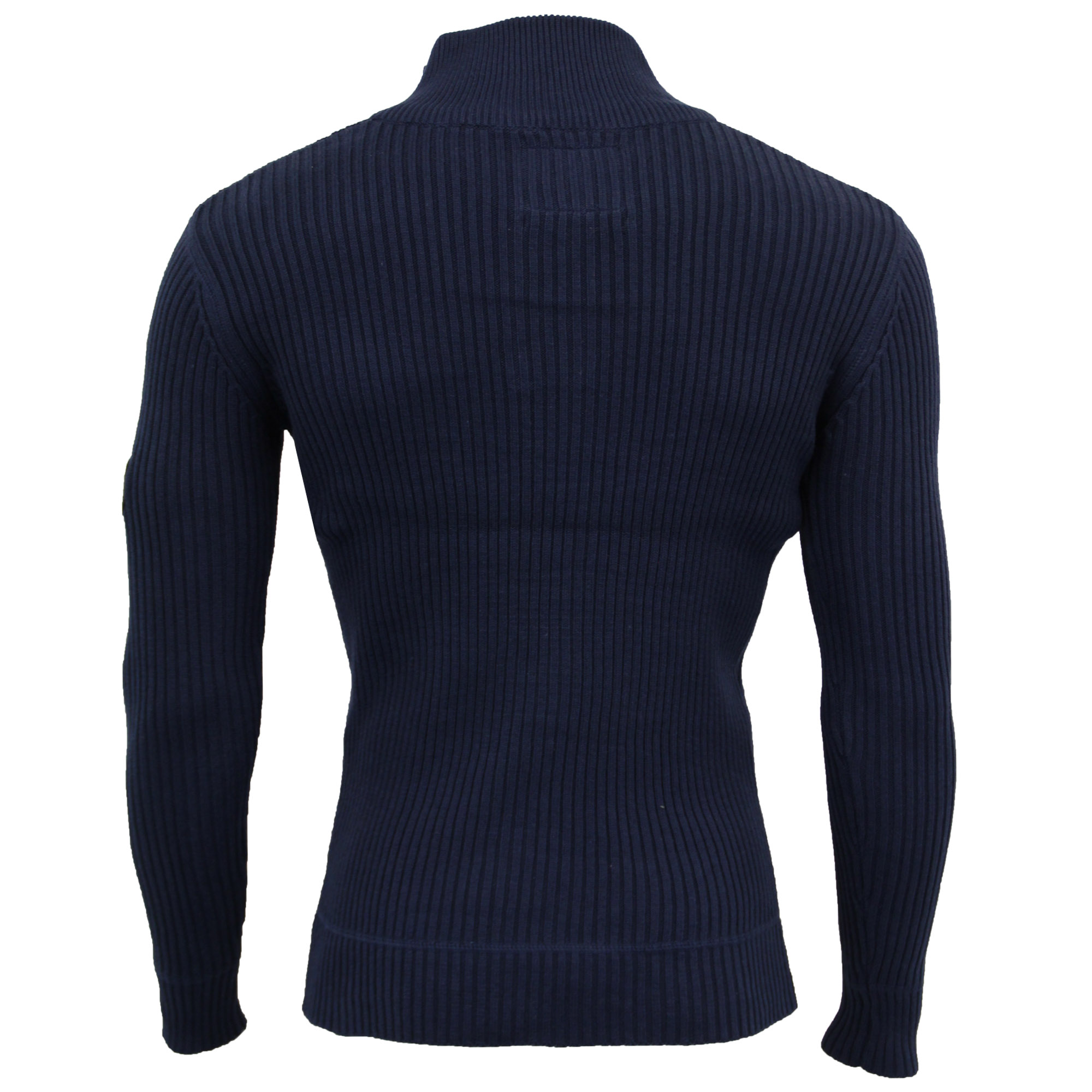 Mens-Knitted-Cotton-Crosshatch-Jumper-Sweater-Pullover-Waffle-Top-Zip-Winter-New thumbnail 17