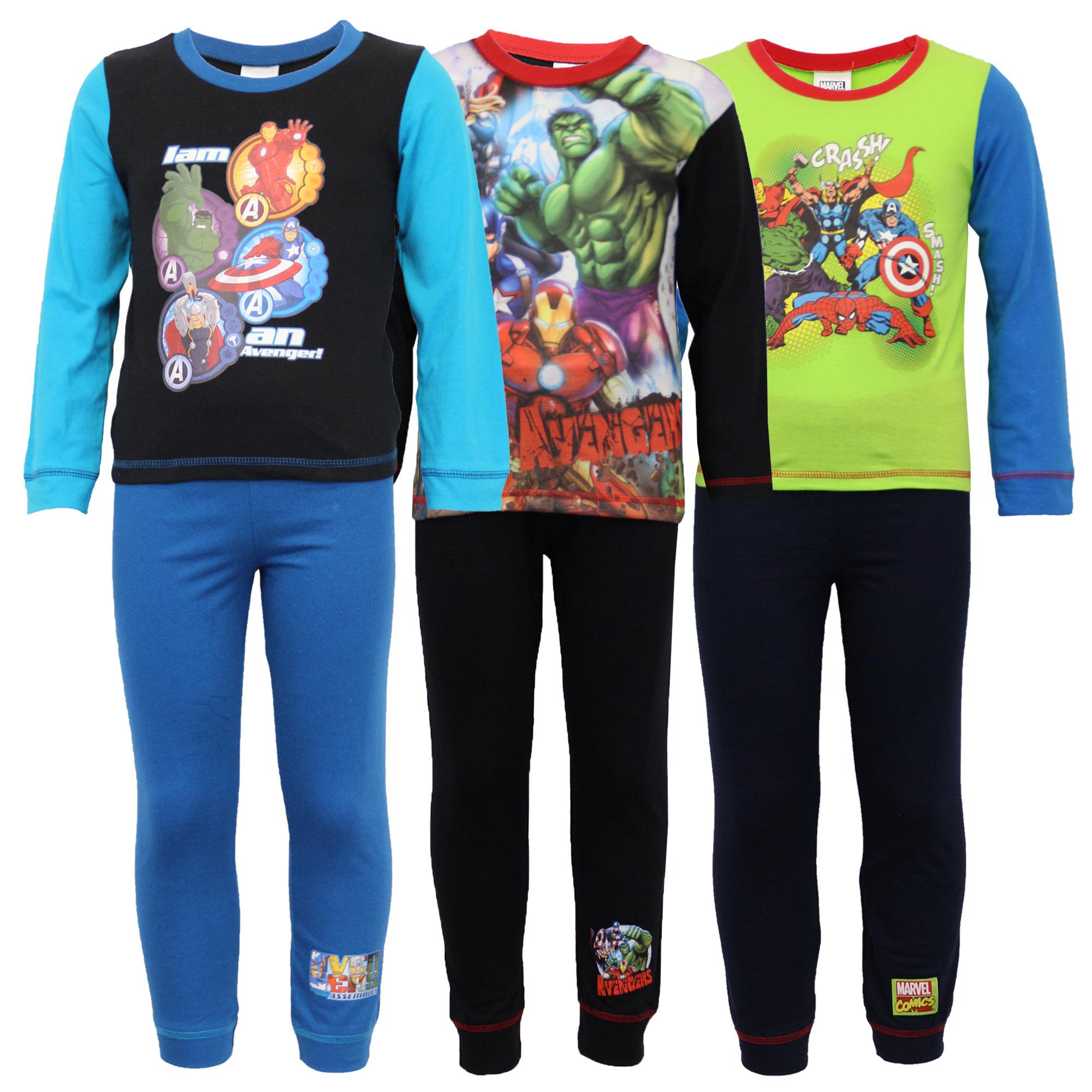 el mejor descuento especial de comprar oficial Detalles de Pijama Niño Infantil Set Marvel Avengers Estampado Héroes  Pantalones Top Captain