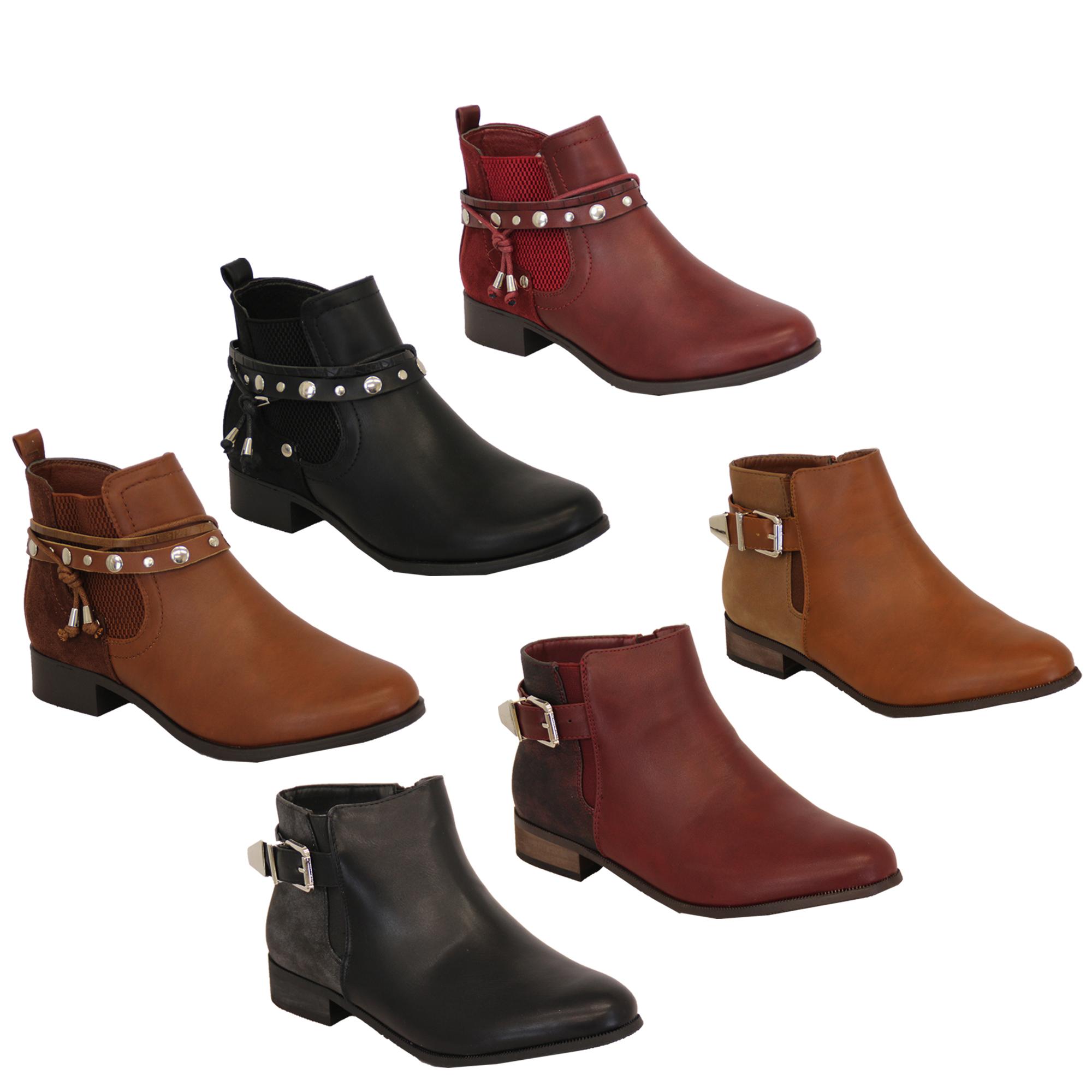 calidad asombrosa calidad la mejor calidad para Detalles de Bota Tipo Chelsea para Dama Mujer Piel Sintética Zapatos  Tobillo Tacón bajo