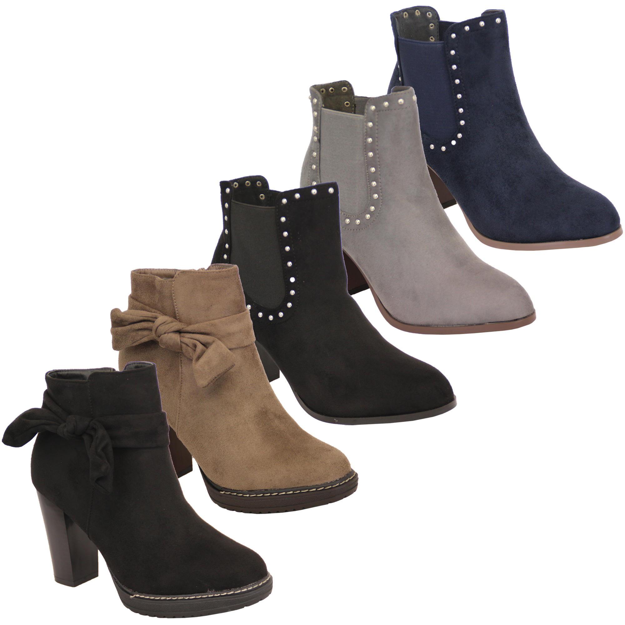 c5210dfd9 Mujer Chelsea Botas Estilo Motero Mujer Look ante Zapatos Plataforma ...