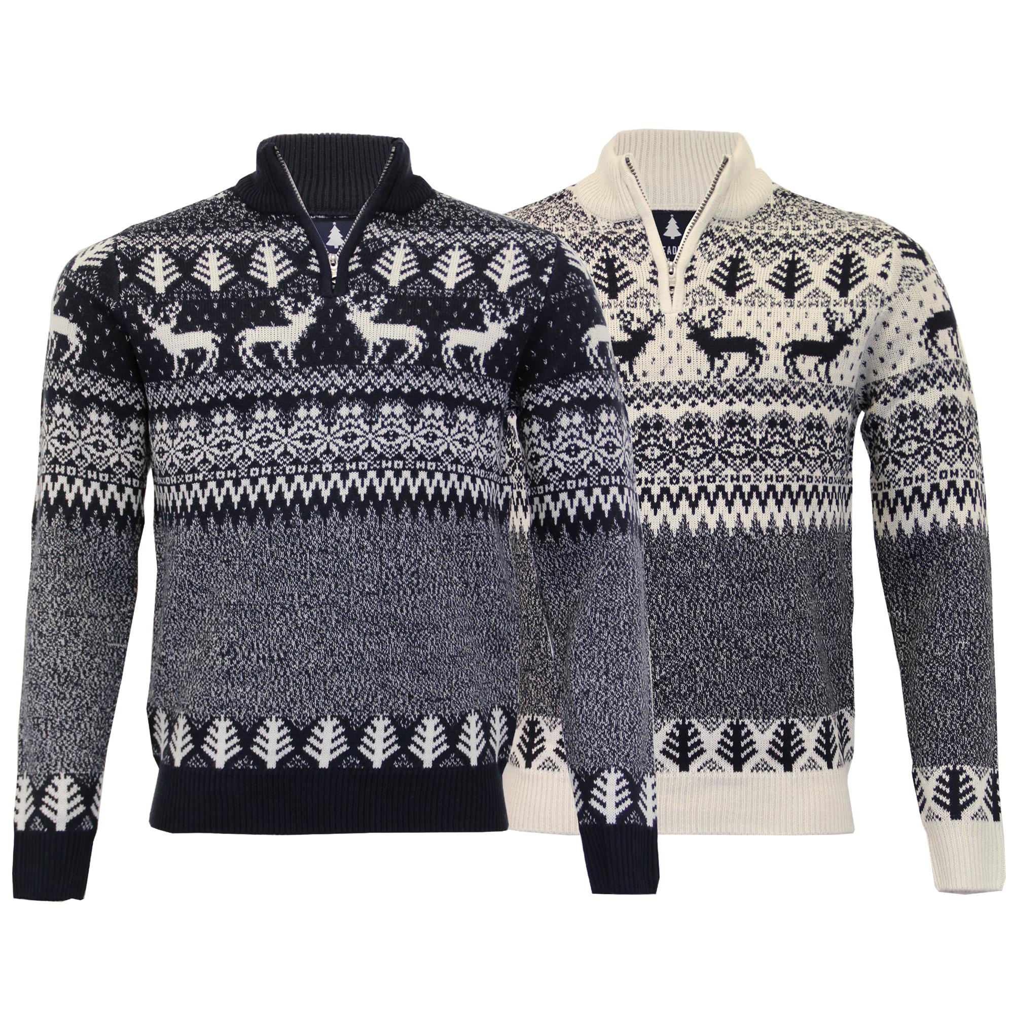 herren weihnachts pullover threadbare norweger neuheit. Black Bedroom Furniture Sets. Home Design Ideas