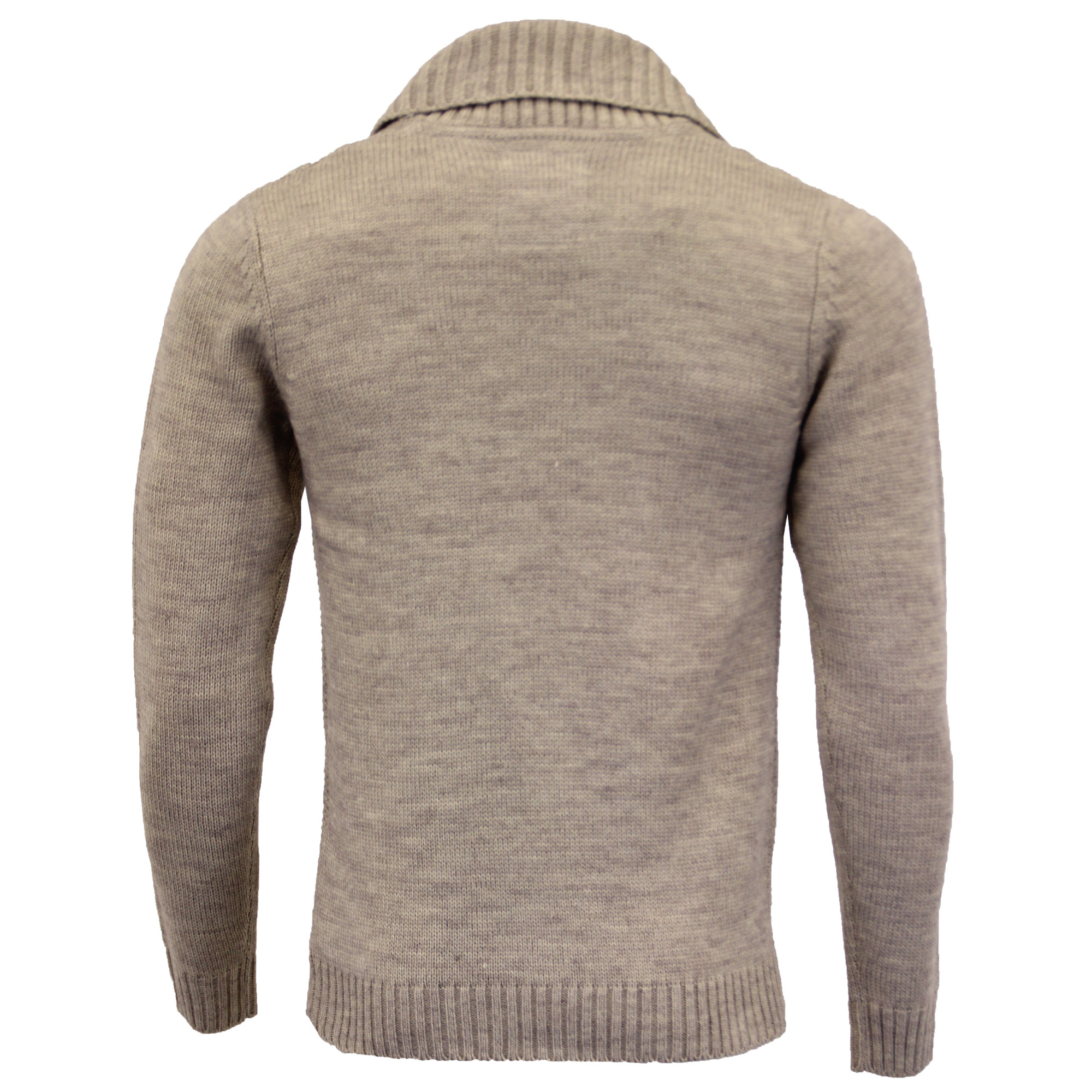 Mens-Wool-Mix-Cardigans-Threadbare-Knitted-Sweater-Broken-Standard-Shawl-Winter thumbnail 24
