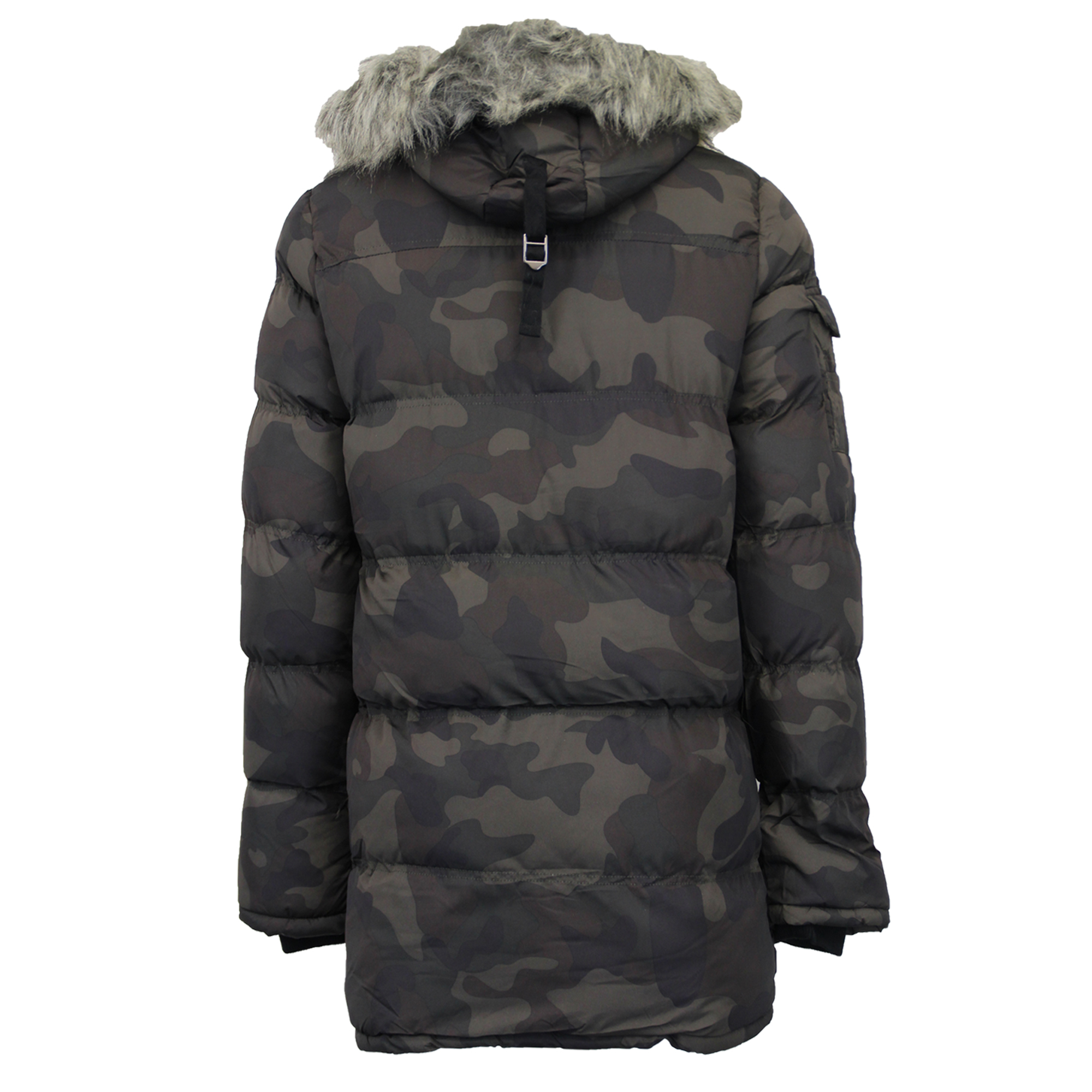 Mens Bubble Parka Jacket Brave Soul Coat Camo Military