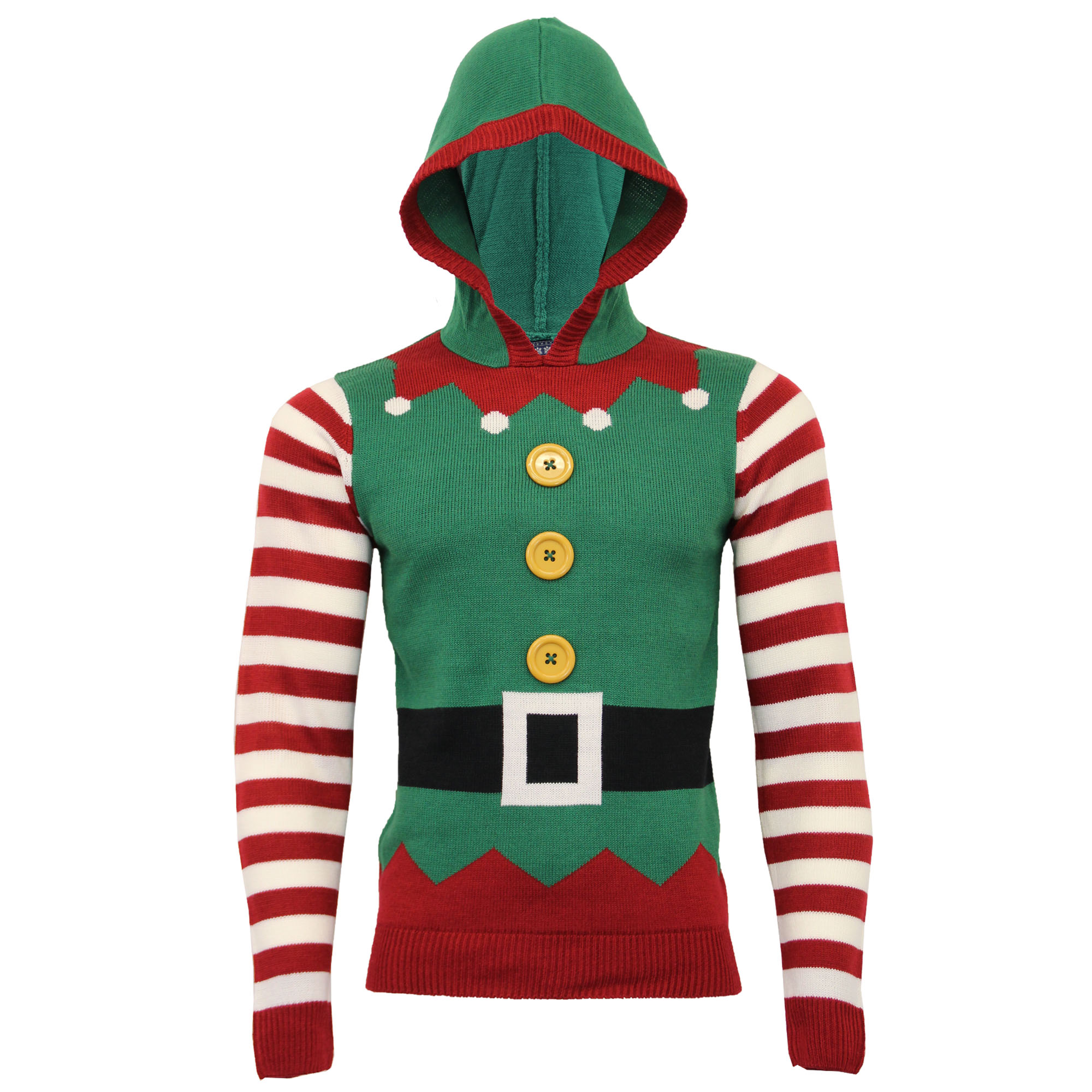298c2e01b4ff Mens Xmas Christmas Jumper Seasons Greetings 3D Novelty Elf Print ...