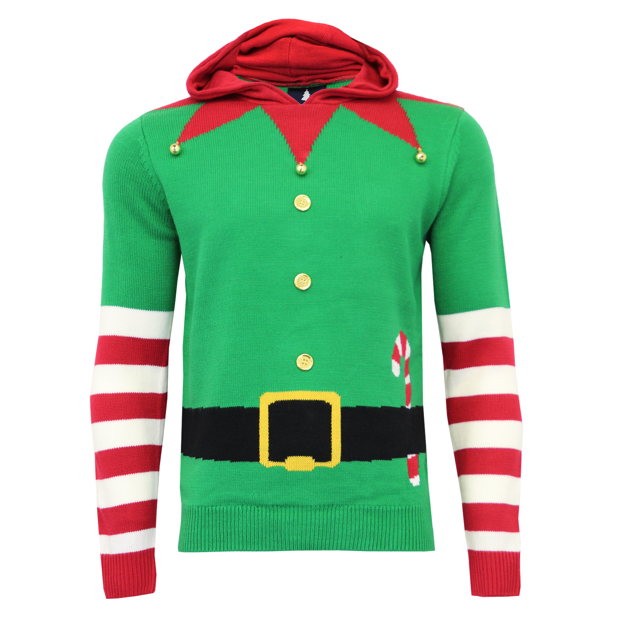 cac283889 Mens Christmas Jumper Threadbare Xmas Knitted Novelty 3D Elf Jingle ...