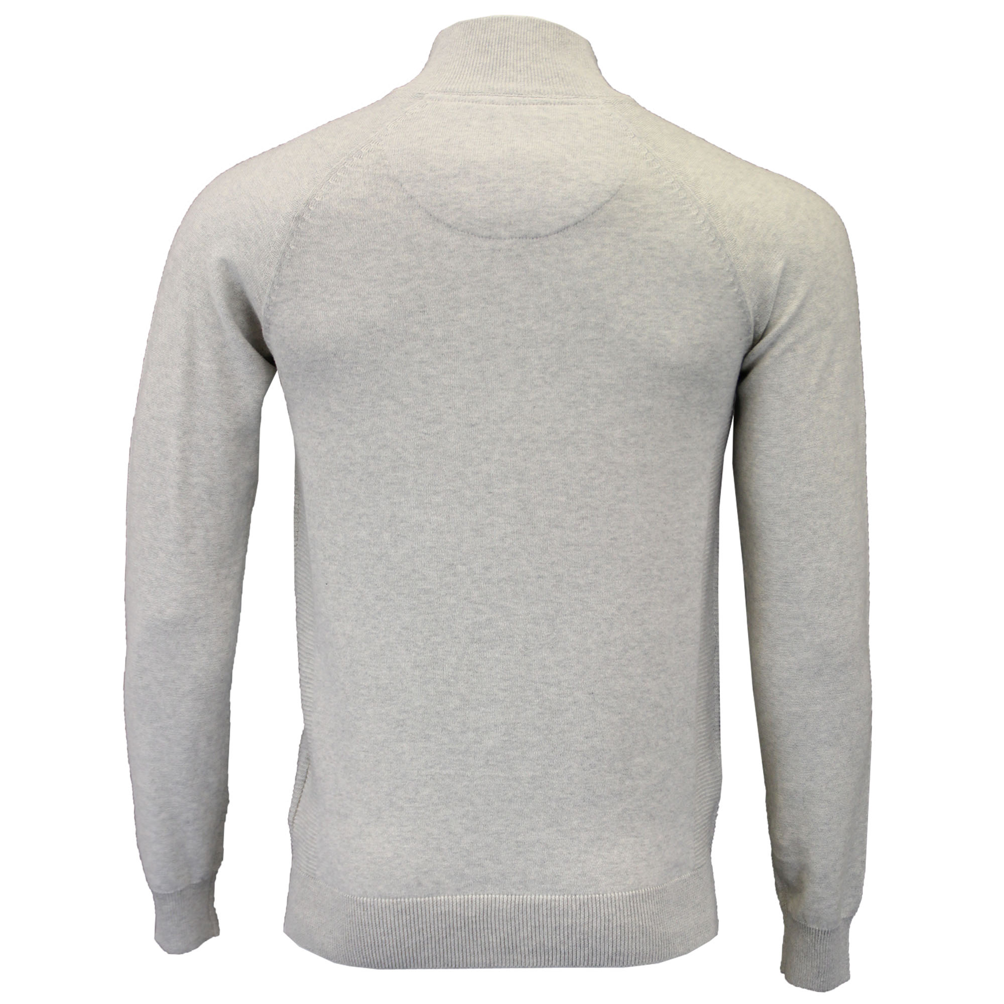 Mens-Jumper-Threadbare-Knitted-Cotton-Sweater-Half-Zip-Pullover-Top-Winter-New thumbnail 3