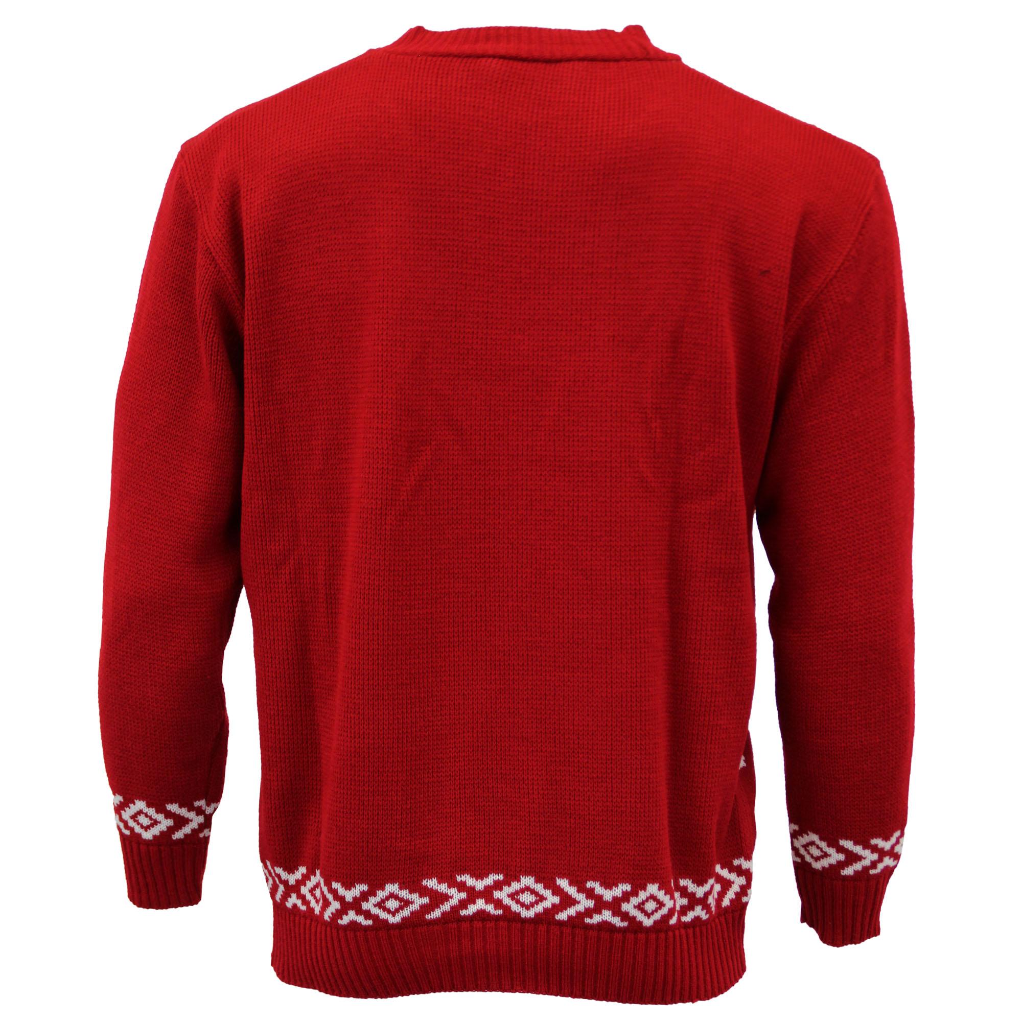 Jersey-Para-Hombre-Damas-Navidad-Navidad-Rudolf-Reno-Pom-Pom-Novedad-De-Punto-De-Invierno miniatura 9