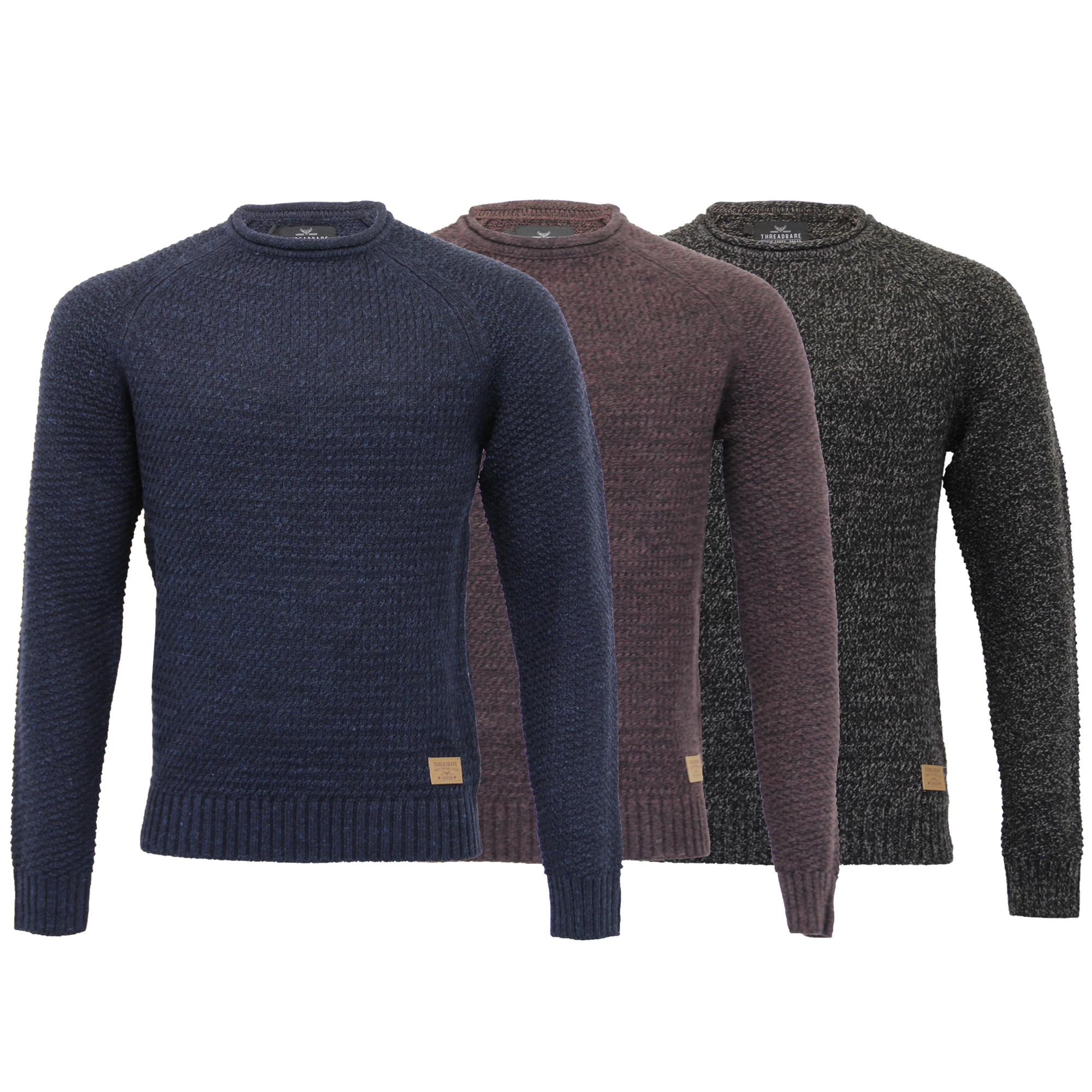 Mens-Wool-Mix-Jumper-Threadbare-Cable-Knitted-Sweater-Pullover-Top-Casual-Winter thumbnail 4