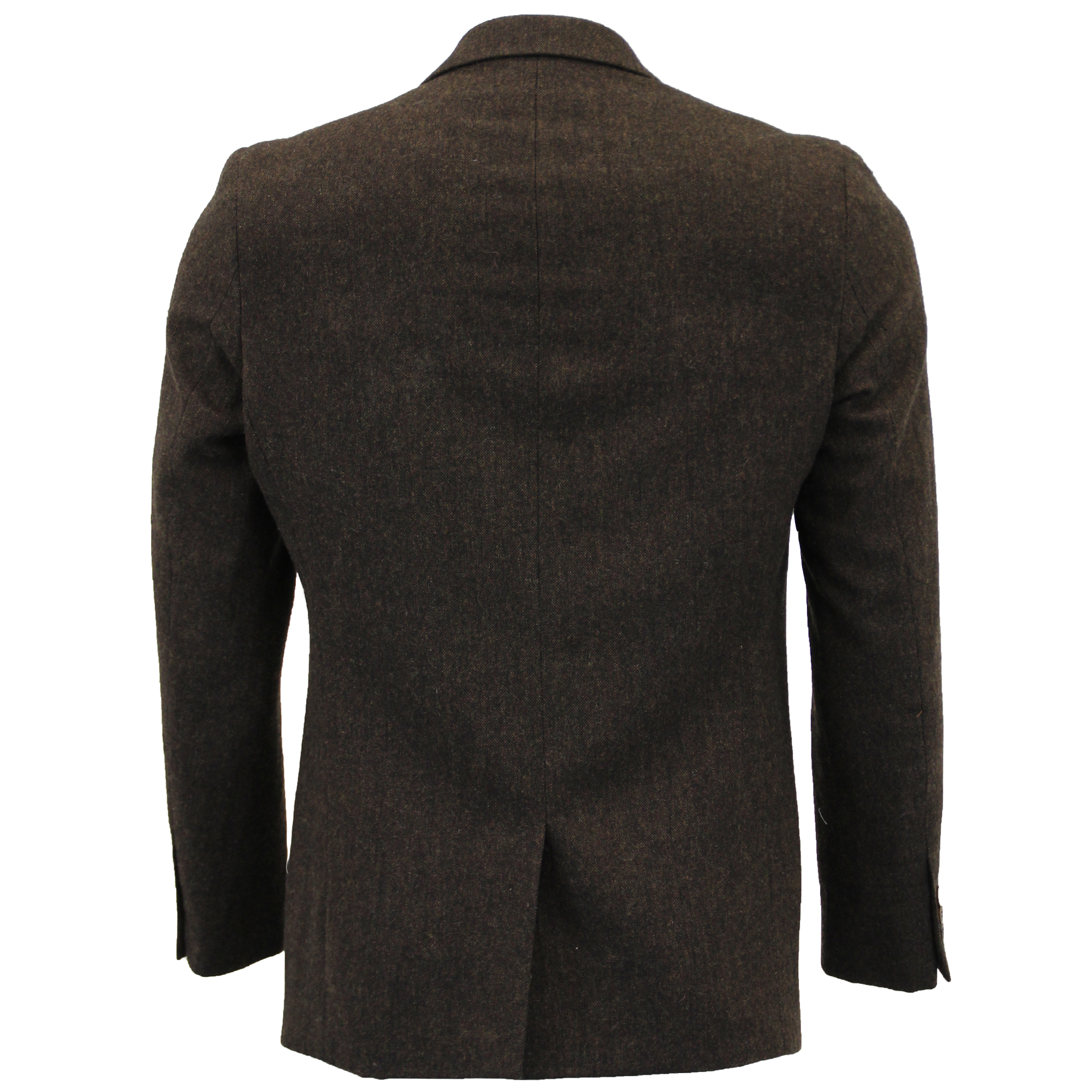 Mezcla-de-lana-para-hombre-3-piezas-trajes-mareno-Blazer-Chaqueta-pantalones-chaleco-Fiesta-Formal miniatura 4