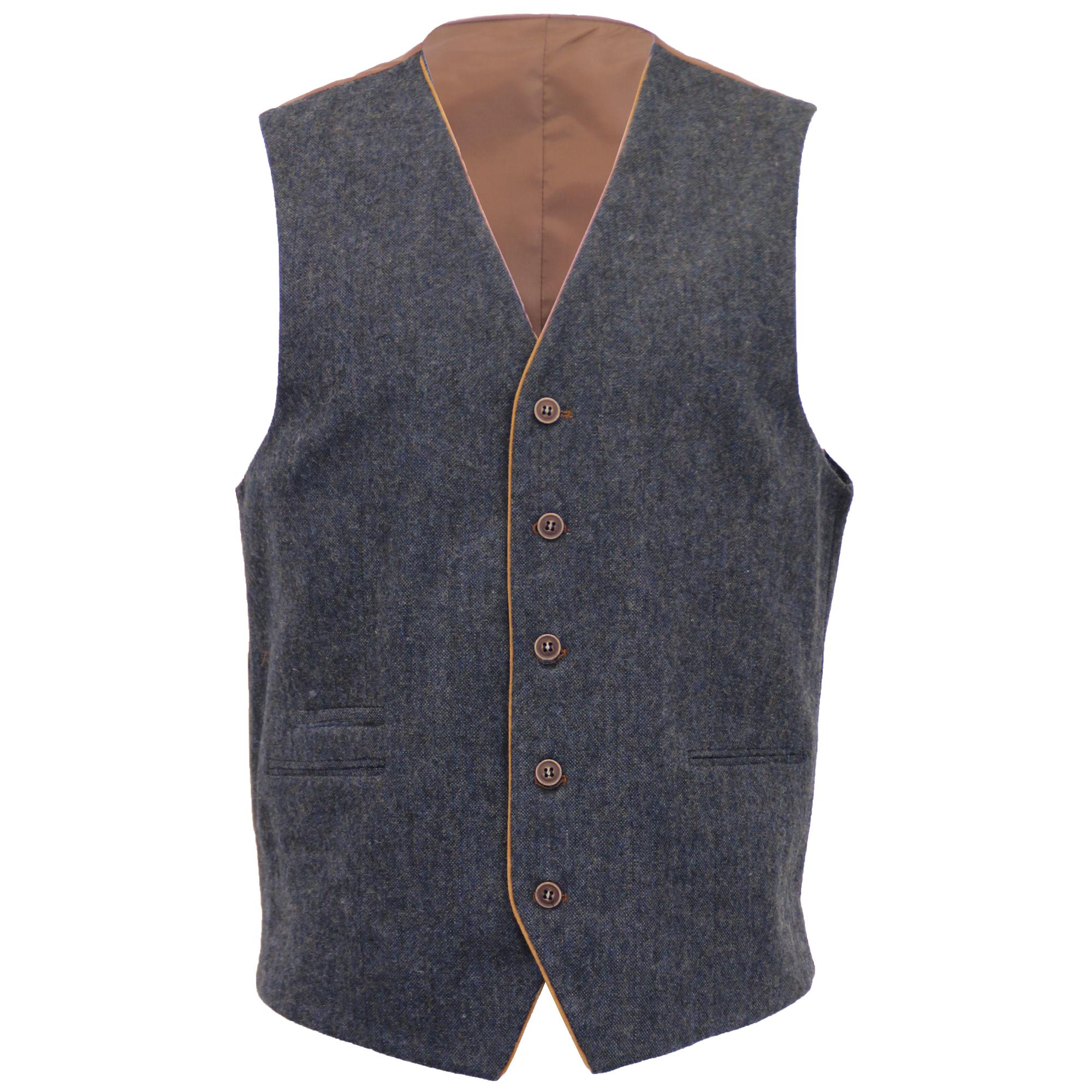 Mezcla-de-lana-para-hombre-3-piezas-trajes-mareno-Blazer-Chaqueta-pantalones-chaleco-Fiesta-Formal miniatura 12