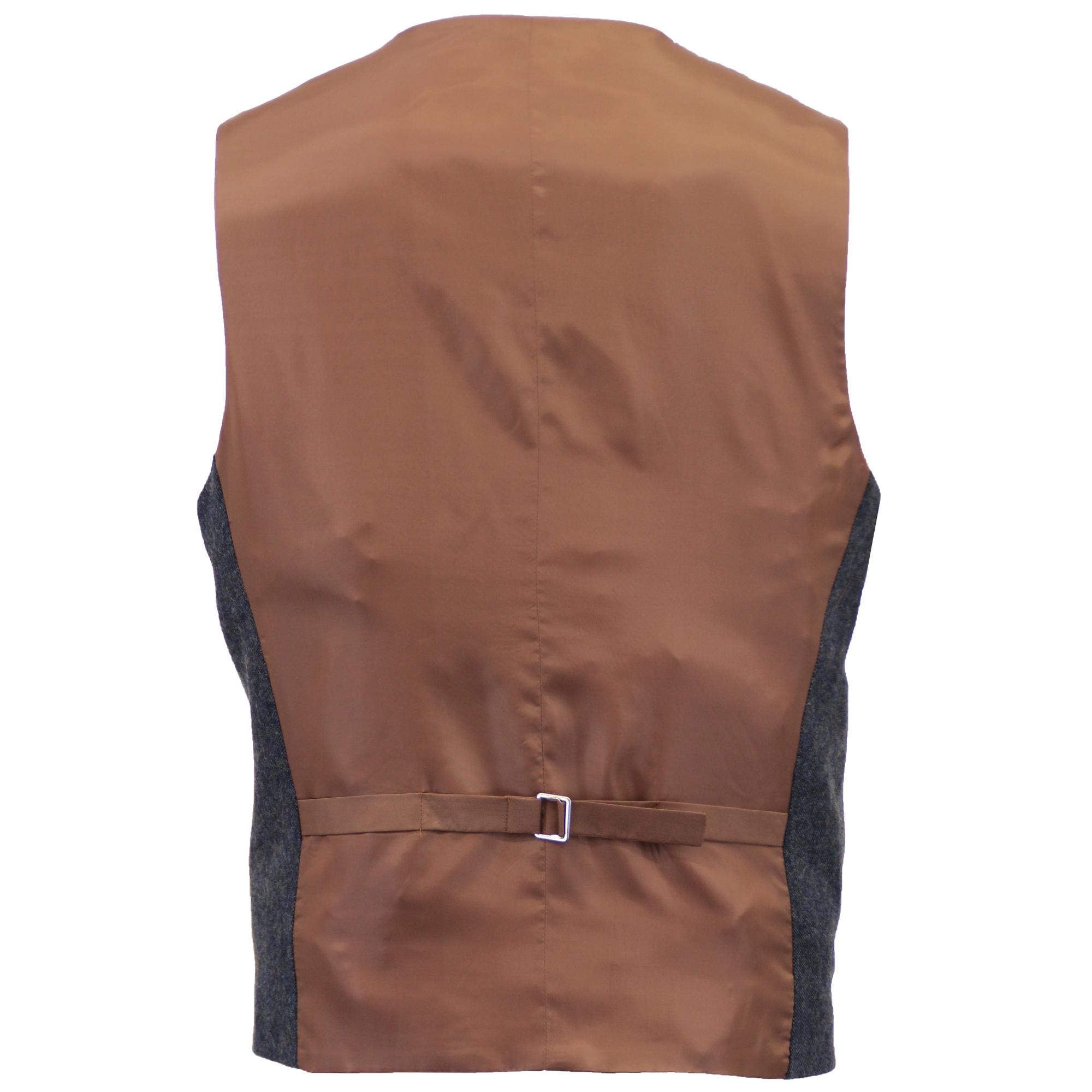 Mezcla-de-lana-para-hombre-3-piezas-trajes-mareno-Blazer-Chaqueta-pantalones-chaleco-Fiesta-Formal miniatura 13