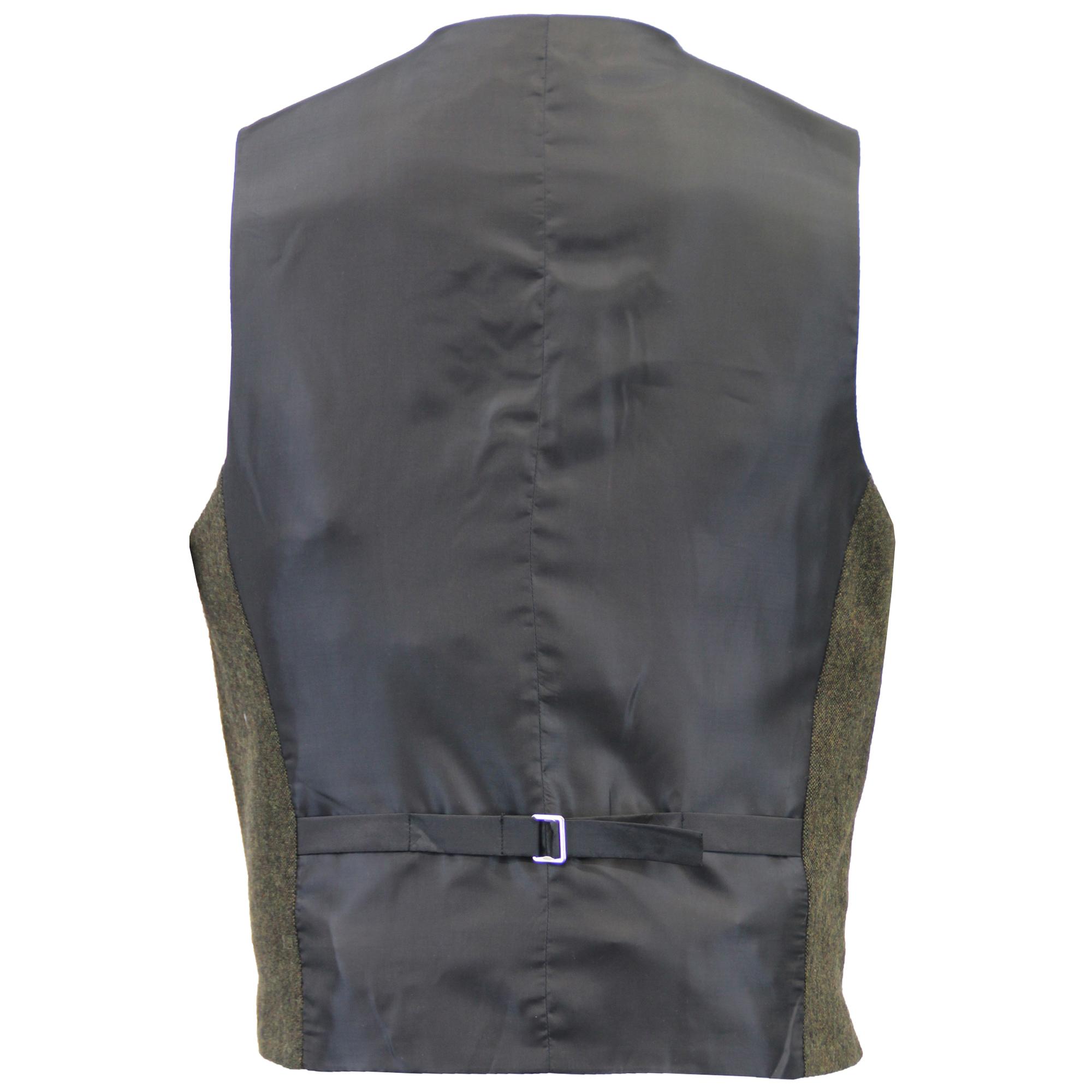 Mezcla-de-lana-para-hombre-3-piezas-trajes-mareno-Blazer-Chaqueta-pantalones-chaleco-Fiesta-Formal miniatura 22
