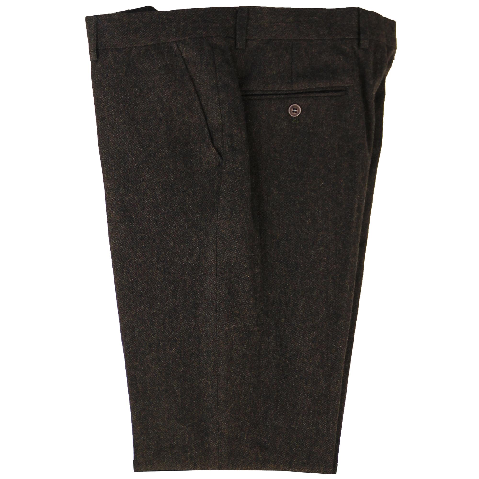 Mezcla-de-lana-para-hombre-3-piezas-trajes-mareno-Blazer-Chaqueta-pantalones-chaleco-Fiesta-Formal miniatura 6