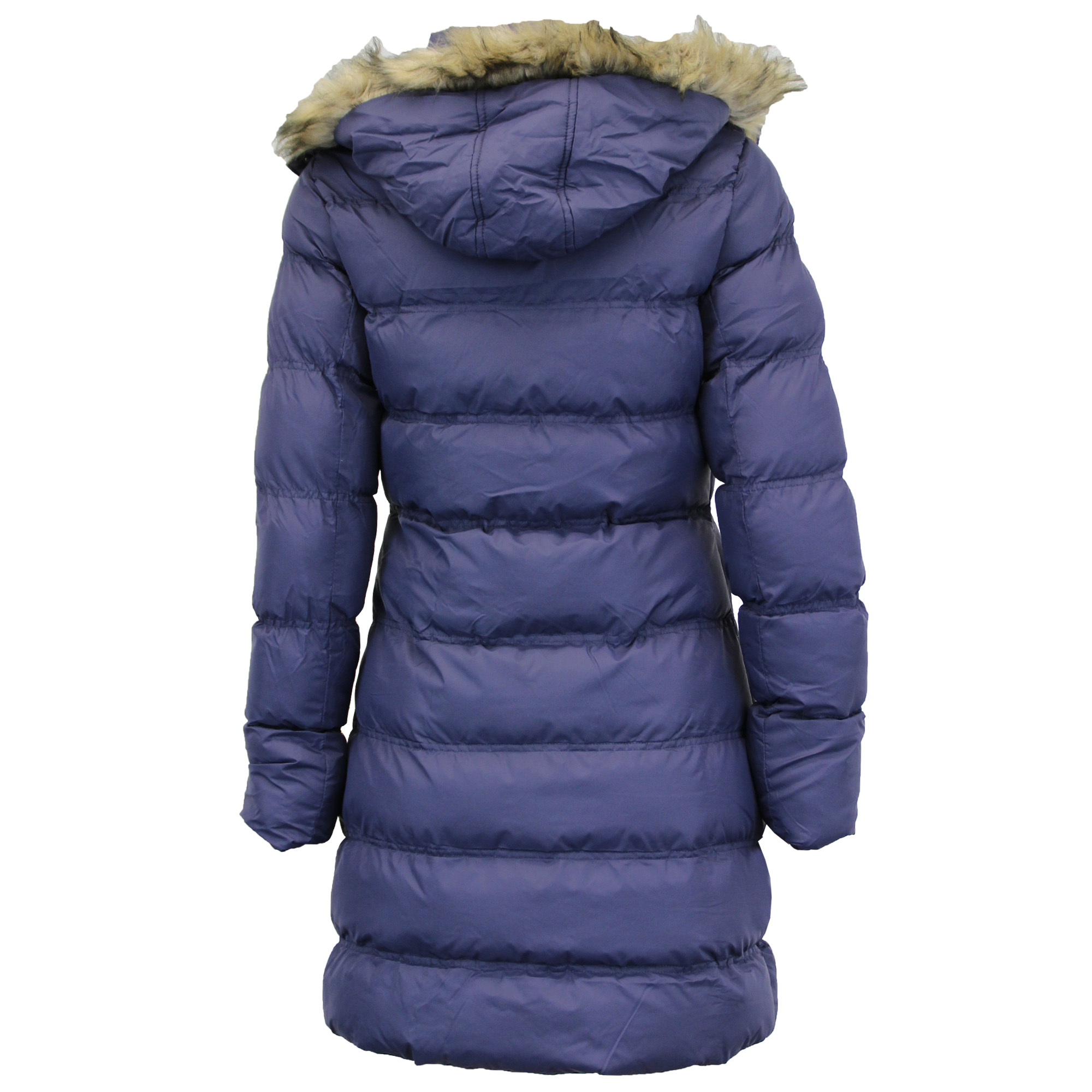 Ladies Parka Jacket Brave Soul Long Bubble Coat Hooded Padded Big ...