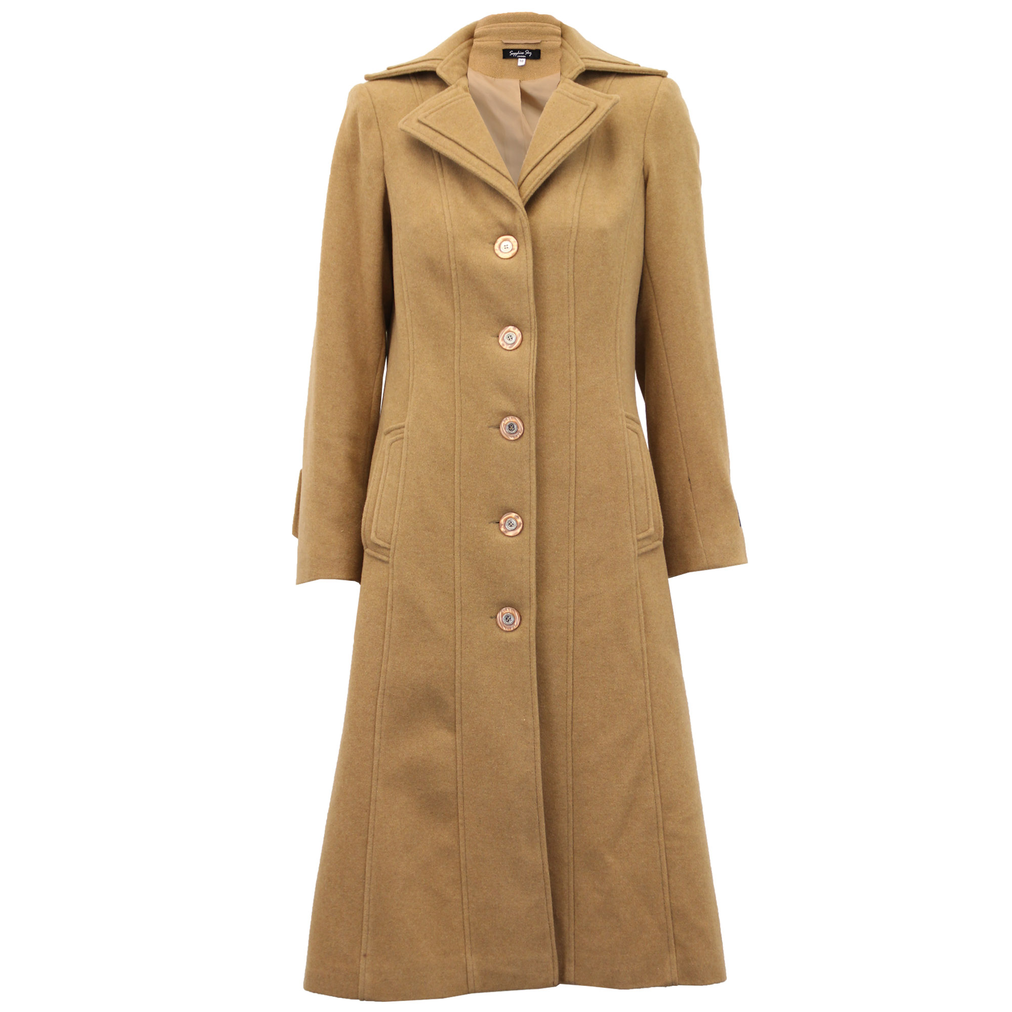 Ladies-Wool-Cashmere-Coat-Women-Jacket-Outerwear-Trench-Overcoat-Winter-Lined thumbnail 22