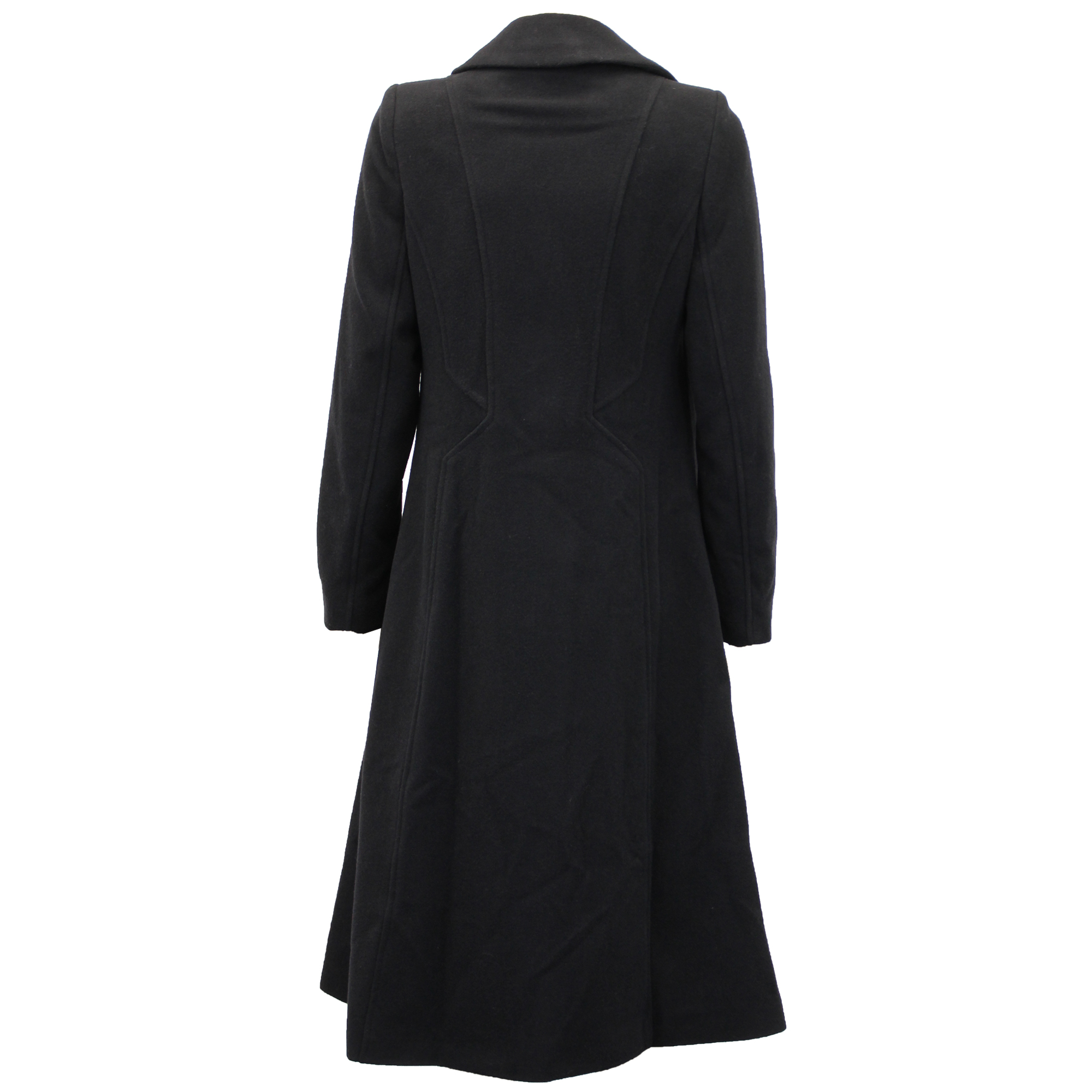 Ladies-Wool-Cashmere-Coat-Women-Jacket-Outerwear-Trench-Overcoat-Winter-Lined thumbnail 8