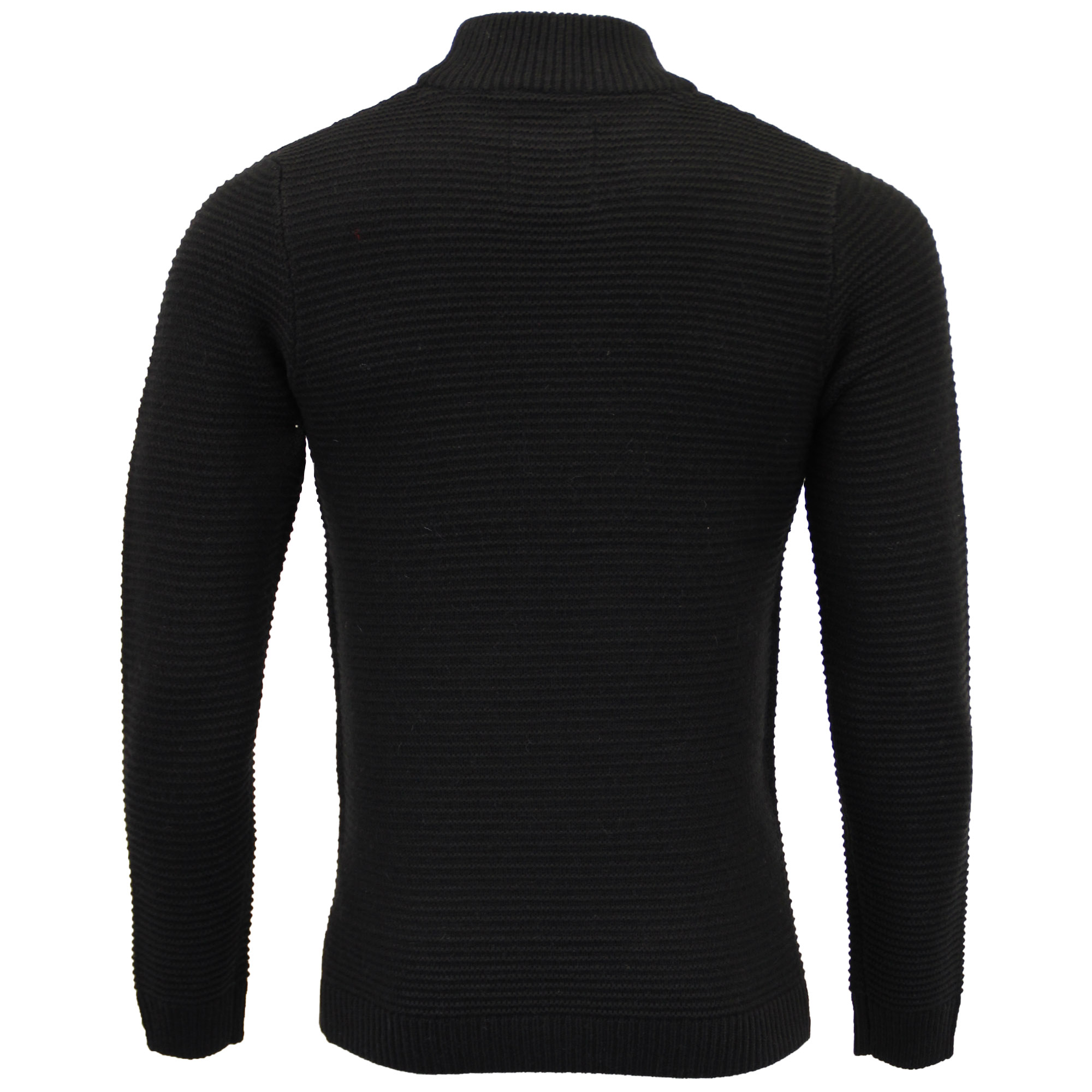 Mens-Polo-Neck-Wool-Mix-Jumper-Threadbare-Knitted-Sweater-Top-Waffle-Winter-New thumbnail 6