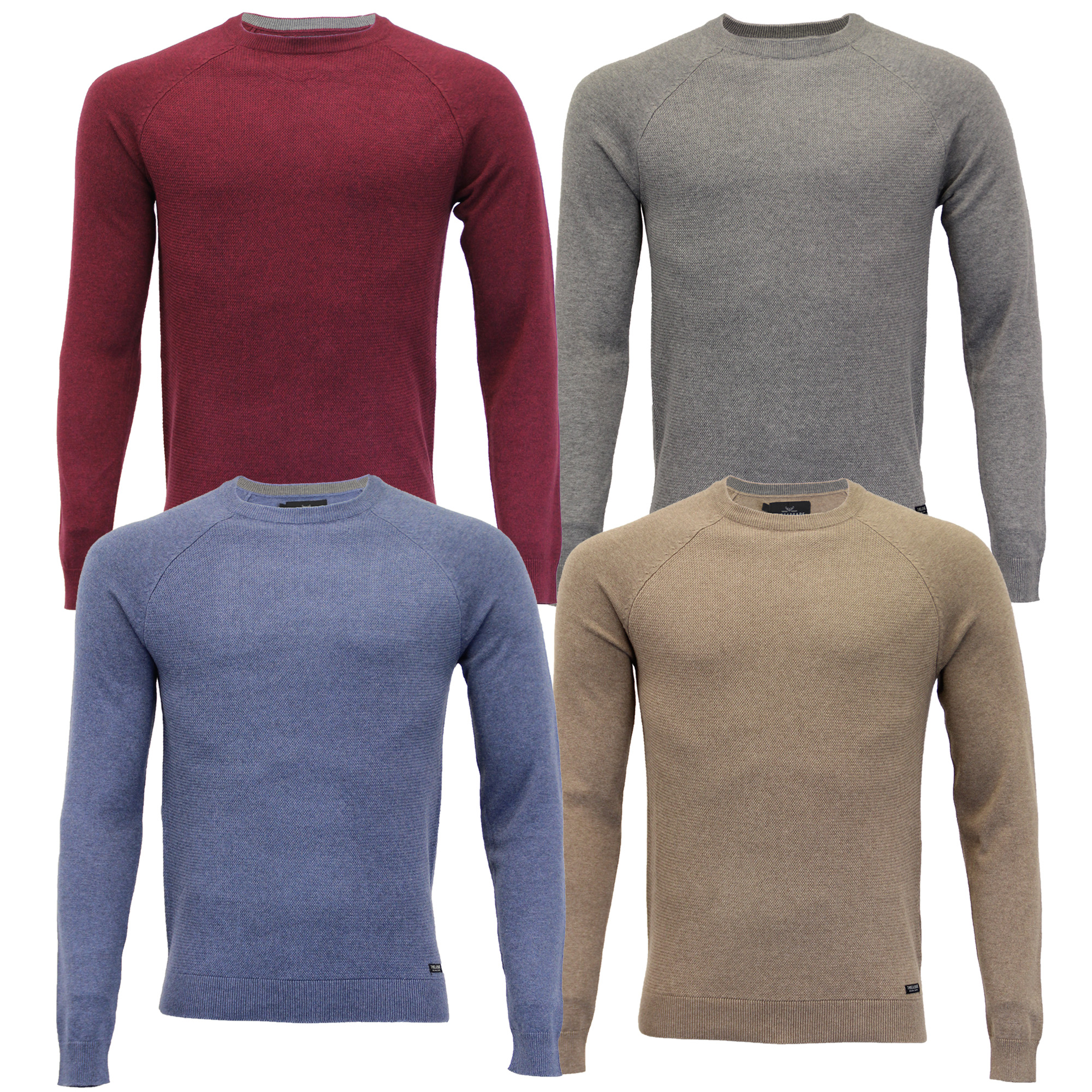 Mens-Jumper-Threadbare-Knitted-Sweater-Pullover-Top-Crew-Neck-Casual-Winter-New thumbnail 4