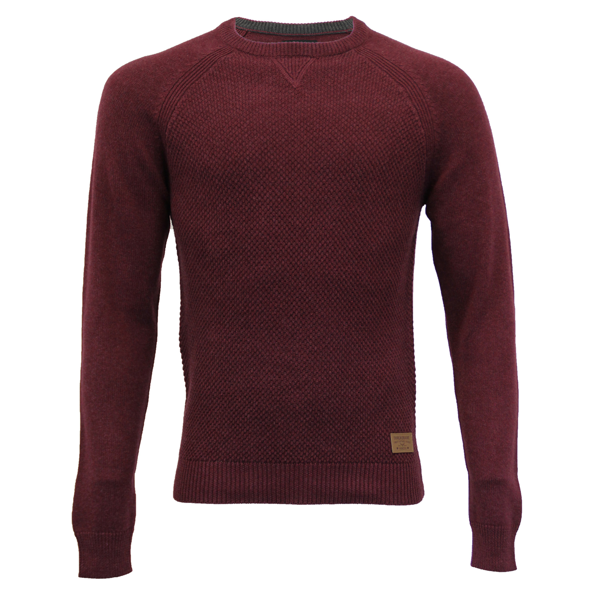 Mens-Jumper-Threadbare-Knitted-Cotton-Sweater-Half-Zip-Pullover-Top-Winter-New thumbnail 10