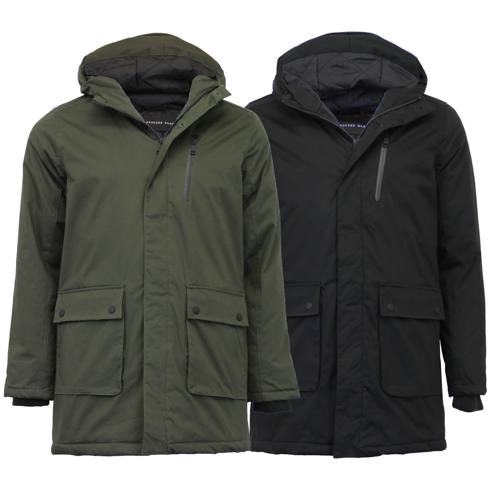 d2199e574e3 Details about Mens Jacket Padded Parka Style Coat Hoodie Quilted Lined  Cotton Designer Winter