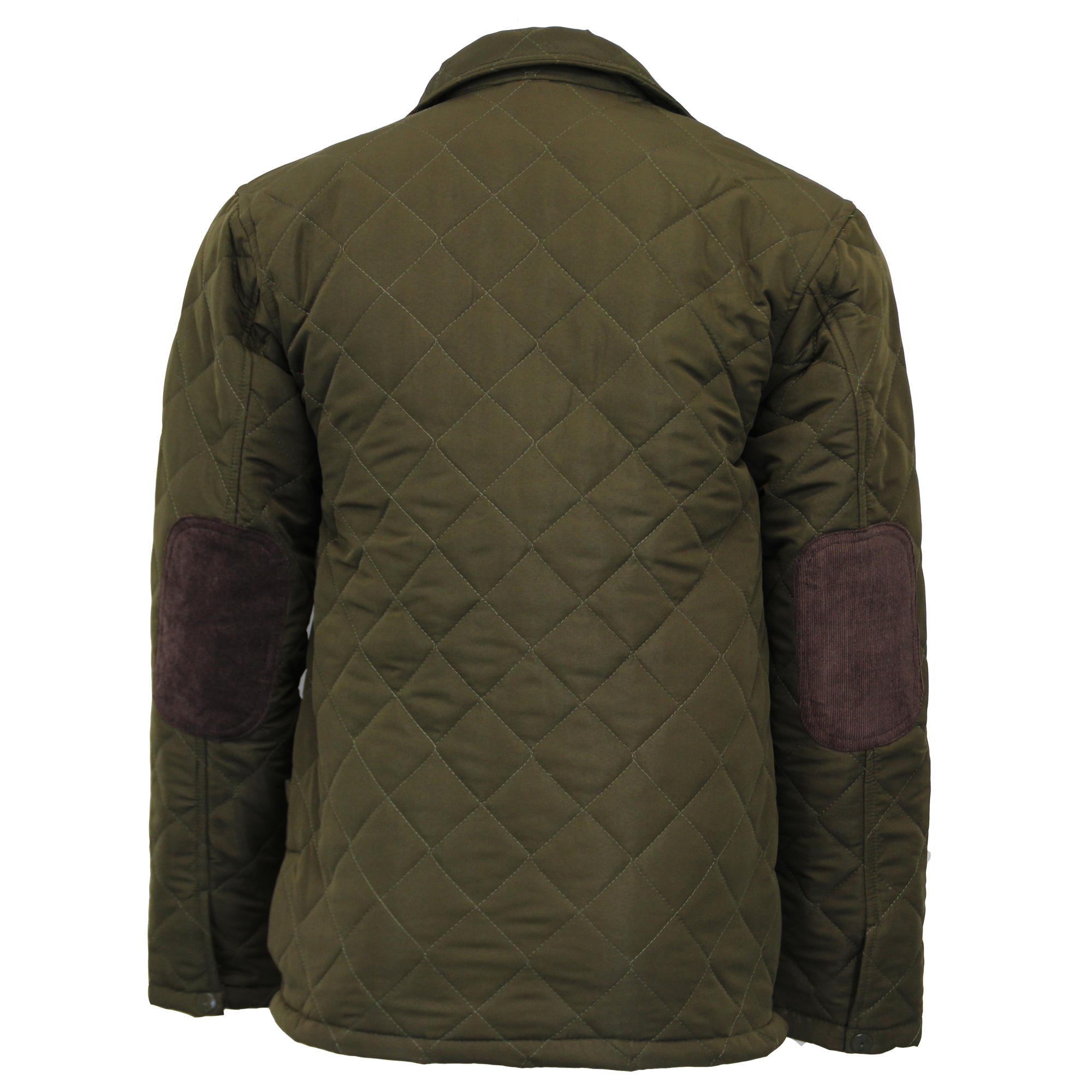 Mens Jacket MARENO Coat Padded Diamond Quilted Corduroy ...