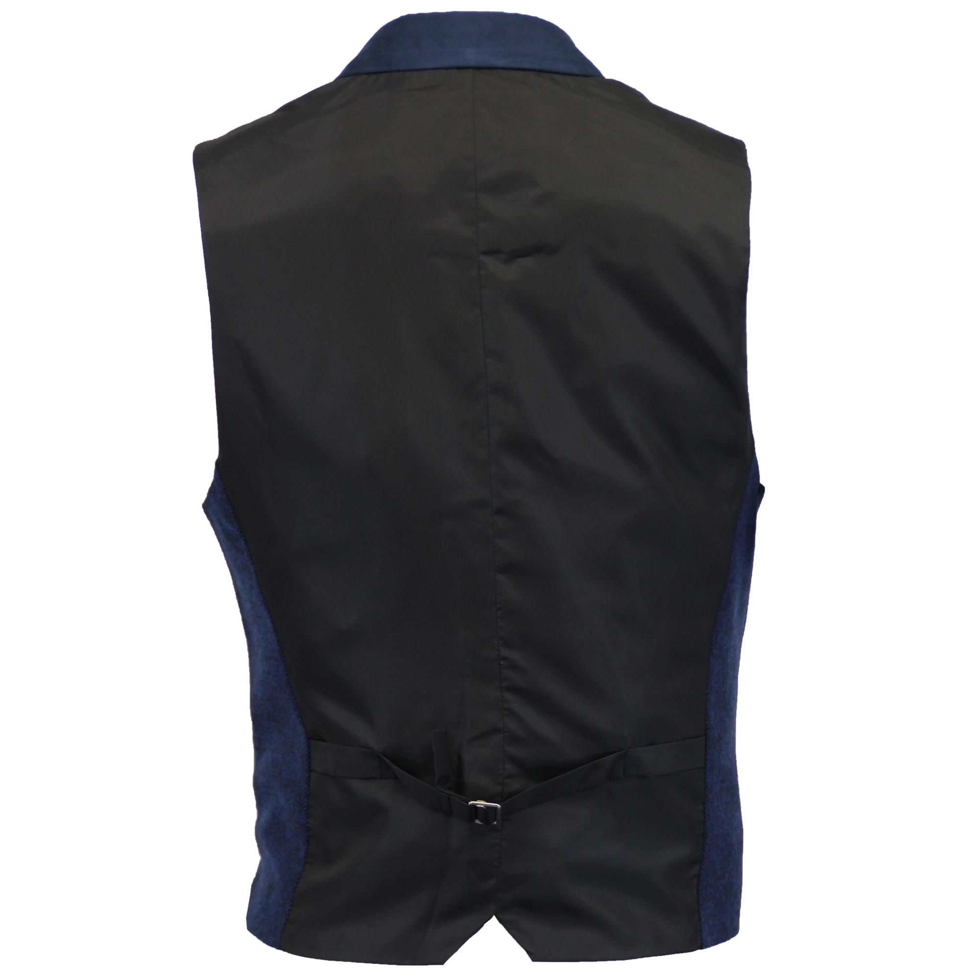 Mezcla-de-lana-para-hombre-mareno-Chaleco-Chaleco-Formal-Herringbone-Tweed-Cuadros-Forrado-de miniatura 3