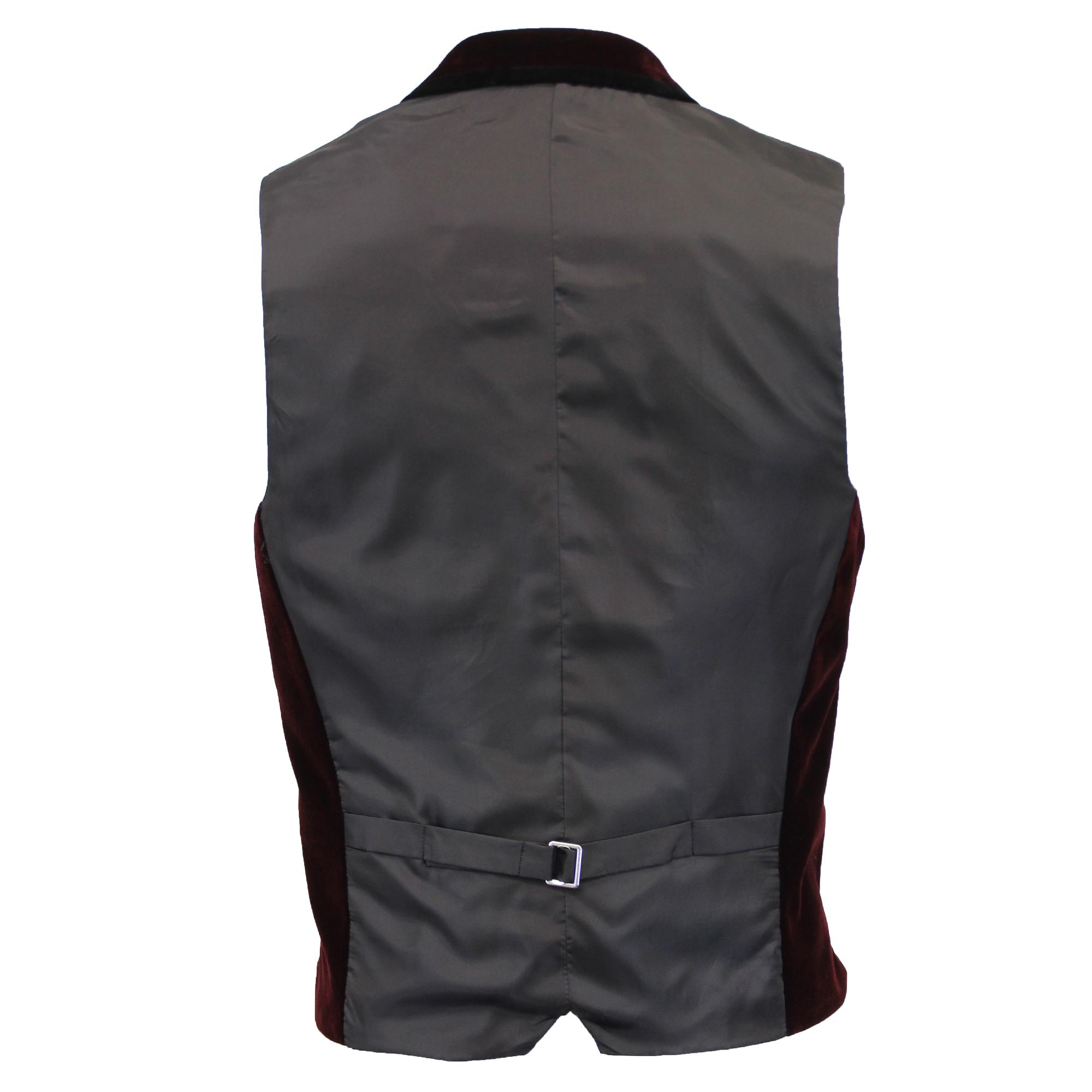 Mezcla-de-lana-para-hombre-mareno-Chaleco-Chaleco-Formal-Herringbone-Tweed-Cuadros-Forrado-de miniatura 36