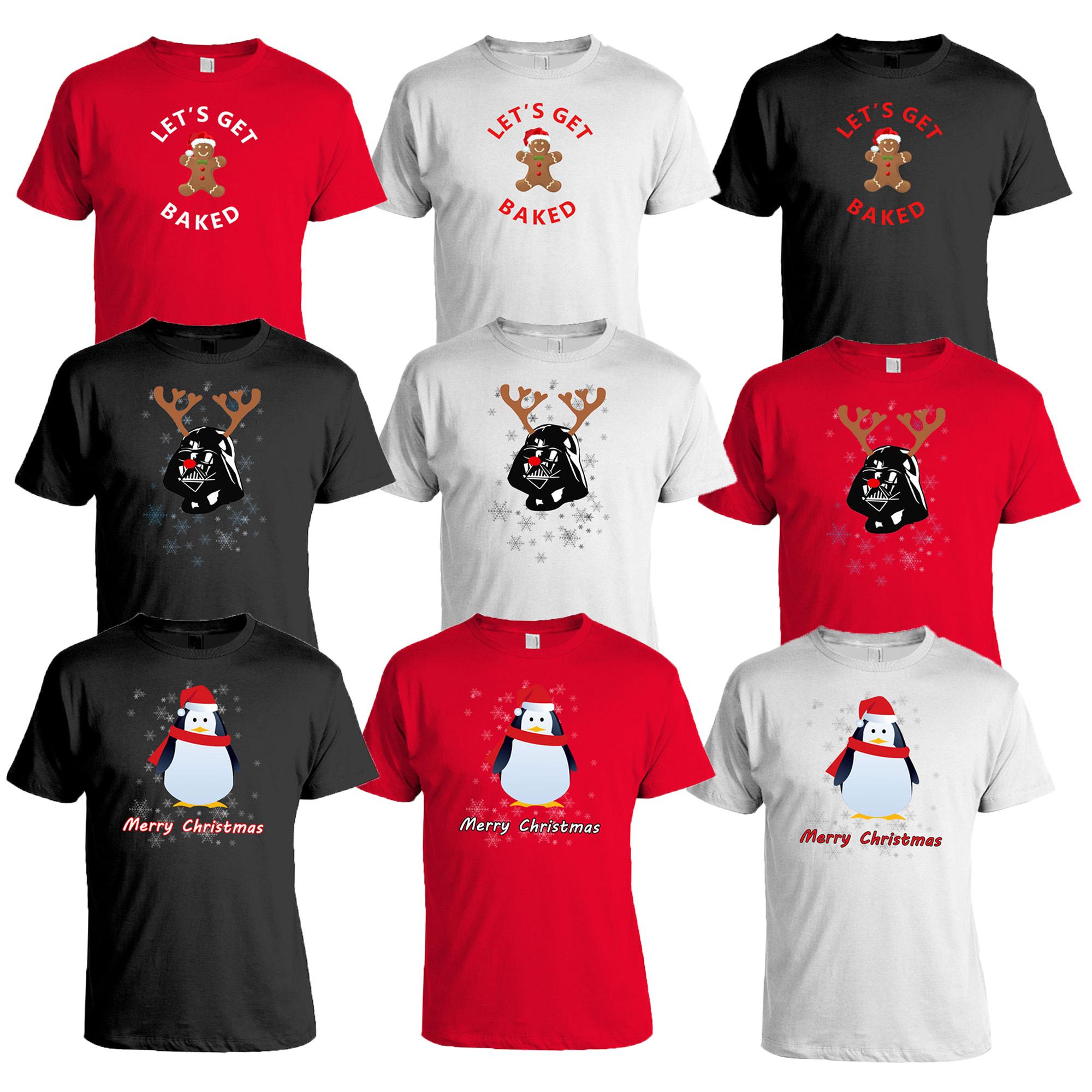 Happy Christmas Cookie Mens Kids T-Shirt Reindeer Xmas Festive Novelty T Shirt