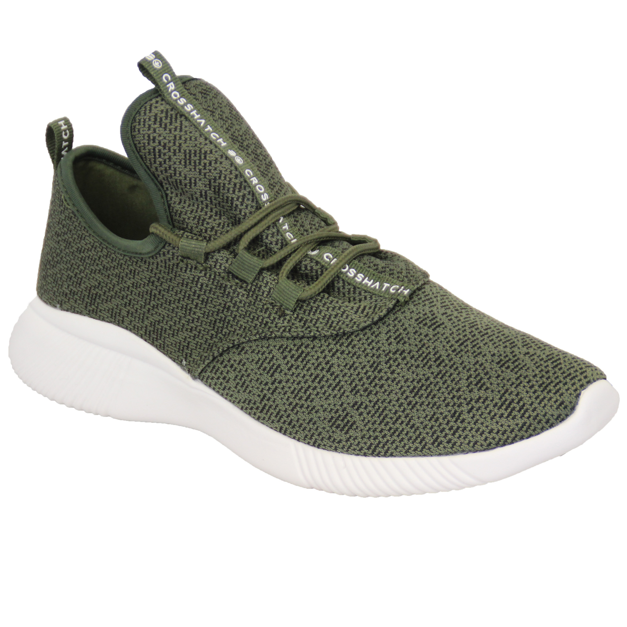 Mens-Trainers-Crosshatch-Running-Speed-Lace-Up-Knit-Mesh-Sports-Gym-Shoes-Casual thumbnail 5