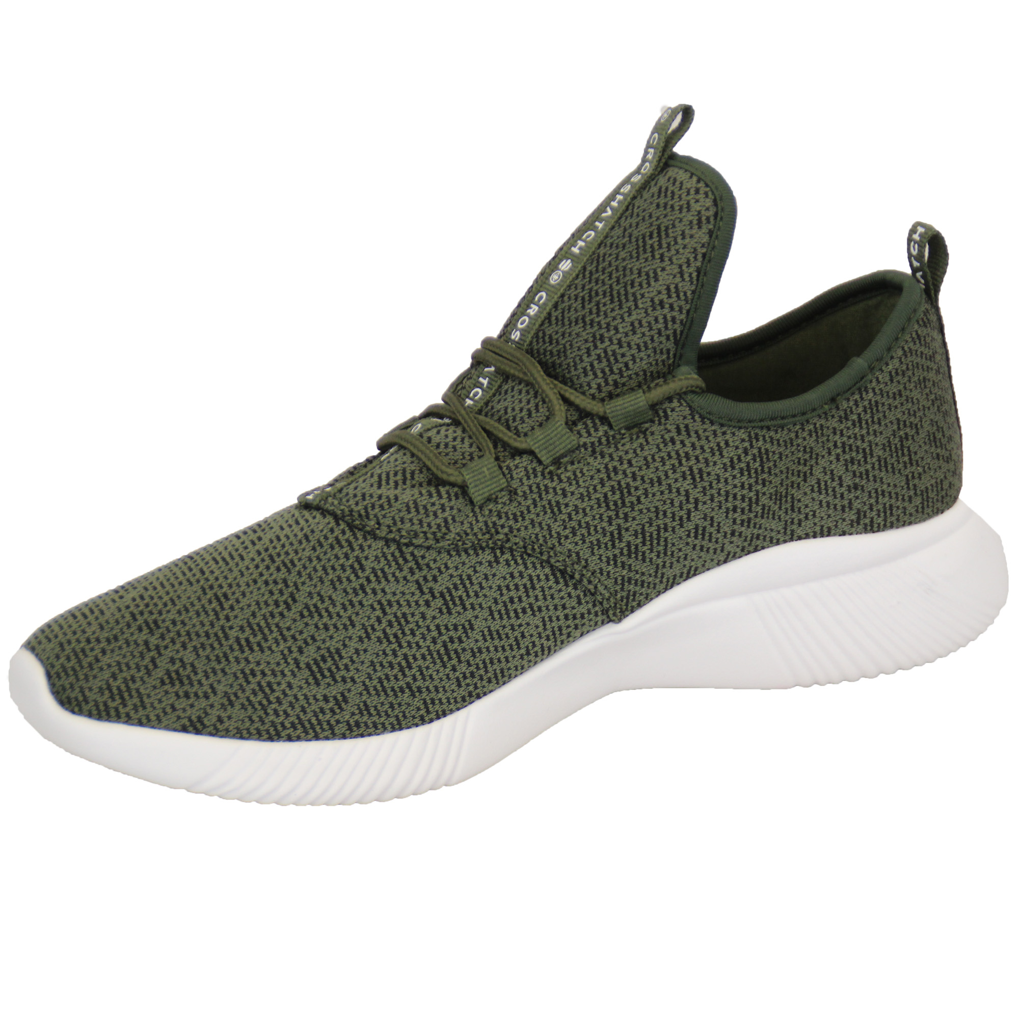 Mens-Trainers-Crosshatch-Running-Speed-Lace-Up-Knit-Mesh-Sports-Gym-Shoes-Casual thumbnail 6