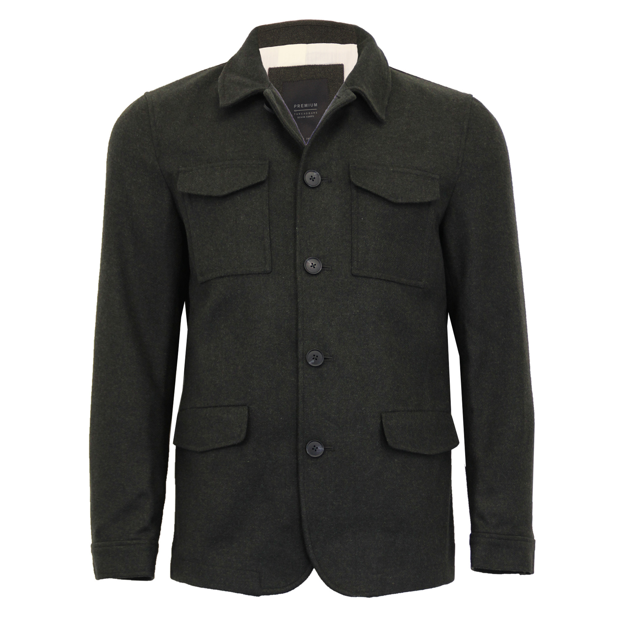 Mens-Wool-Mix-Jacket-Threadbare-Coat-Double-Breasted-Duffle-Lined-Winter-New thumbnail 5