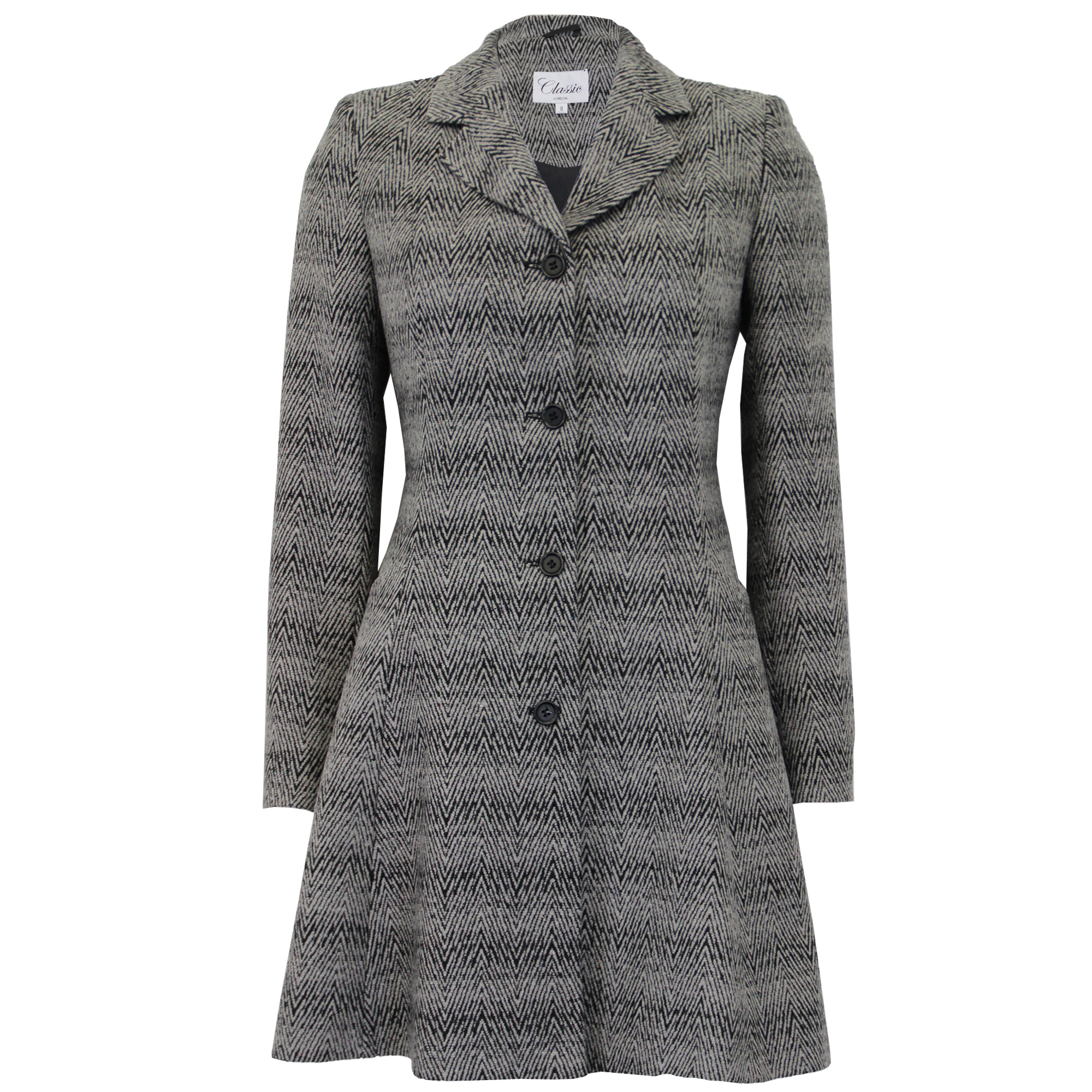 Details about Ladies Coat Womens Jacket Wool Look Belt Long Trench Warm Winter New