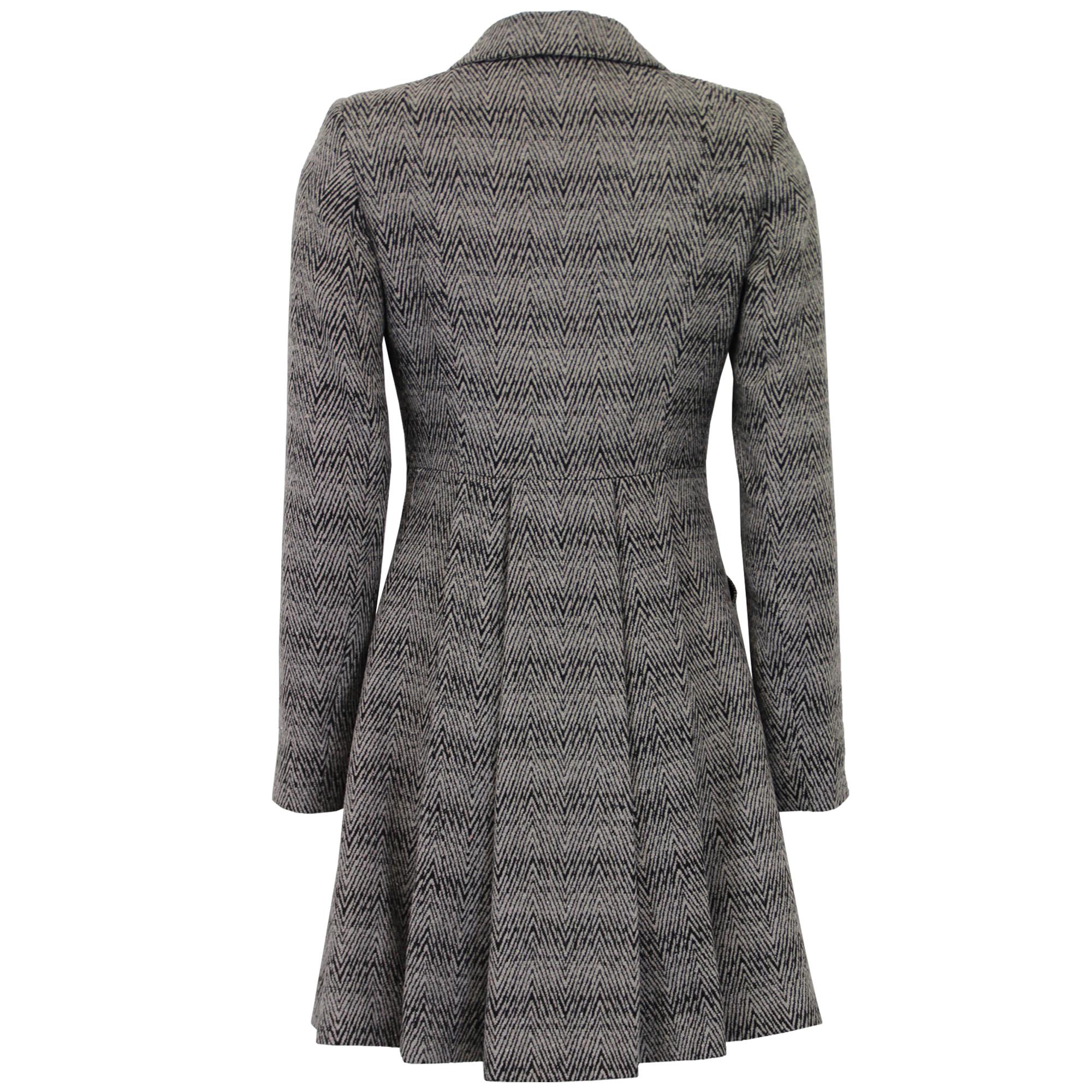 Ladies Coat Womens Jacket Wool Look Belt Long Trench Warm ...
