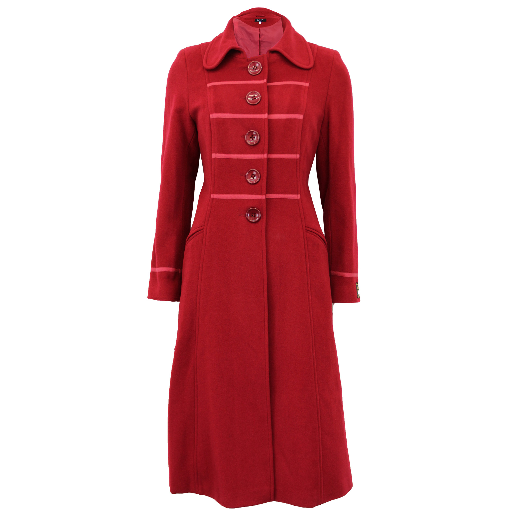 thumbnail 4 - Ladies-Wool-Cashmere-Coat-Womens-Jacket-Outerwear-Trench-Overcoat-Winter-Warm