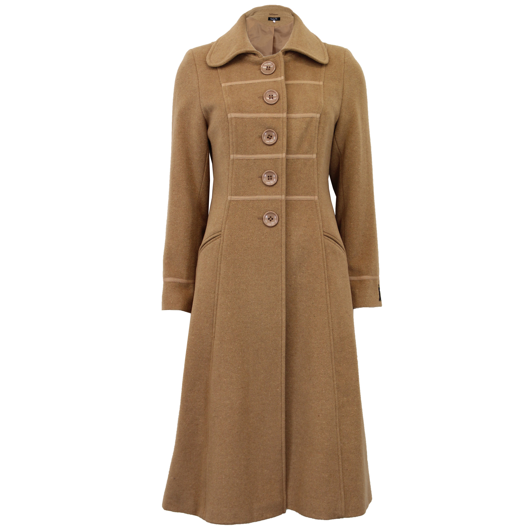 thumbnail 2 - Ladies-Wool-Cashmere-Coat-Womens-Jacket-Outerwear-Trench-Overcoat-Winter-Warm