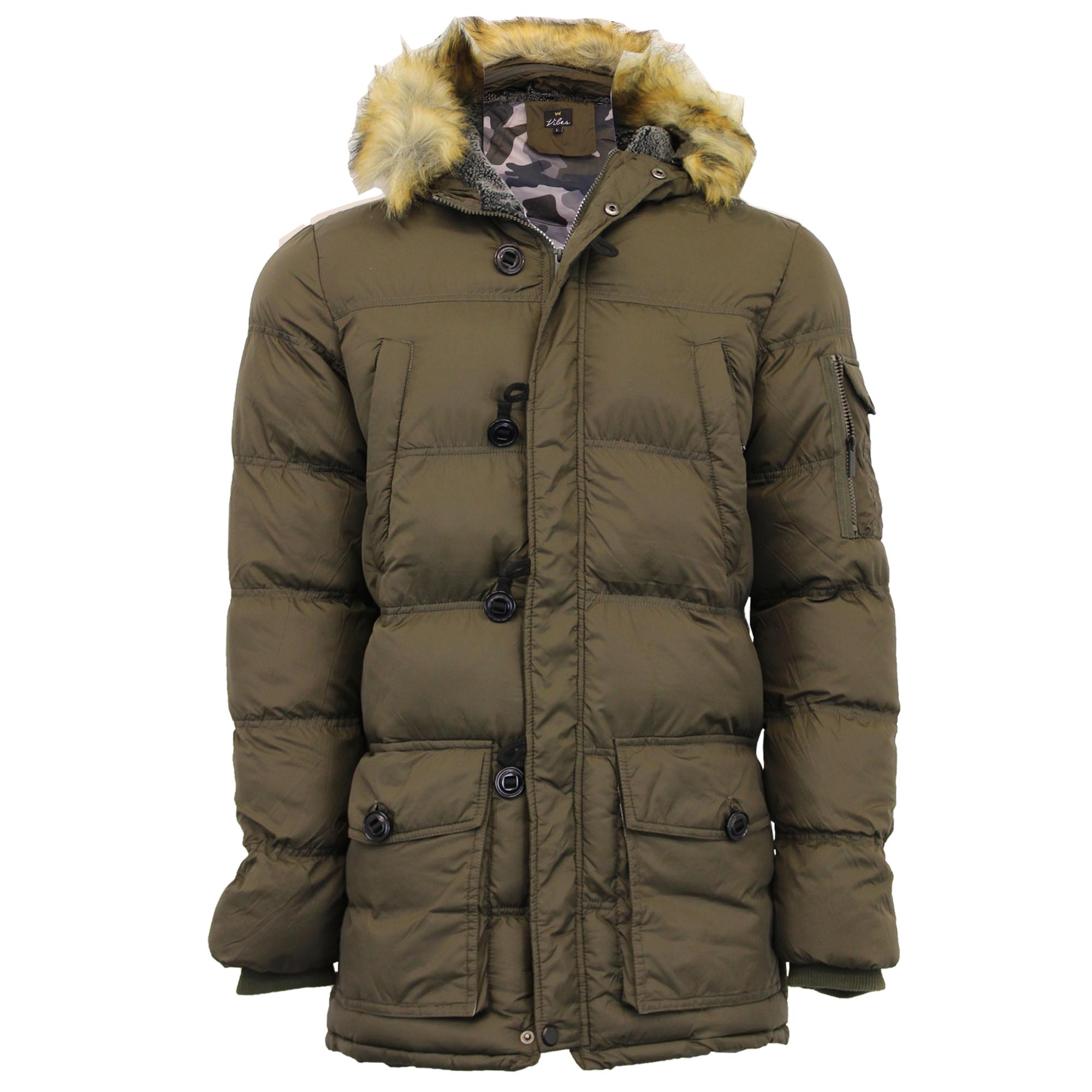 Camo Hoodie Coat Fur Bubble Jacket Military Brave Parka Mens Soul RSfFYcw8Wq