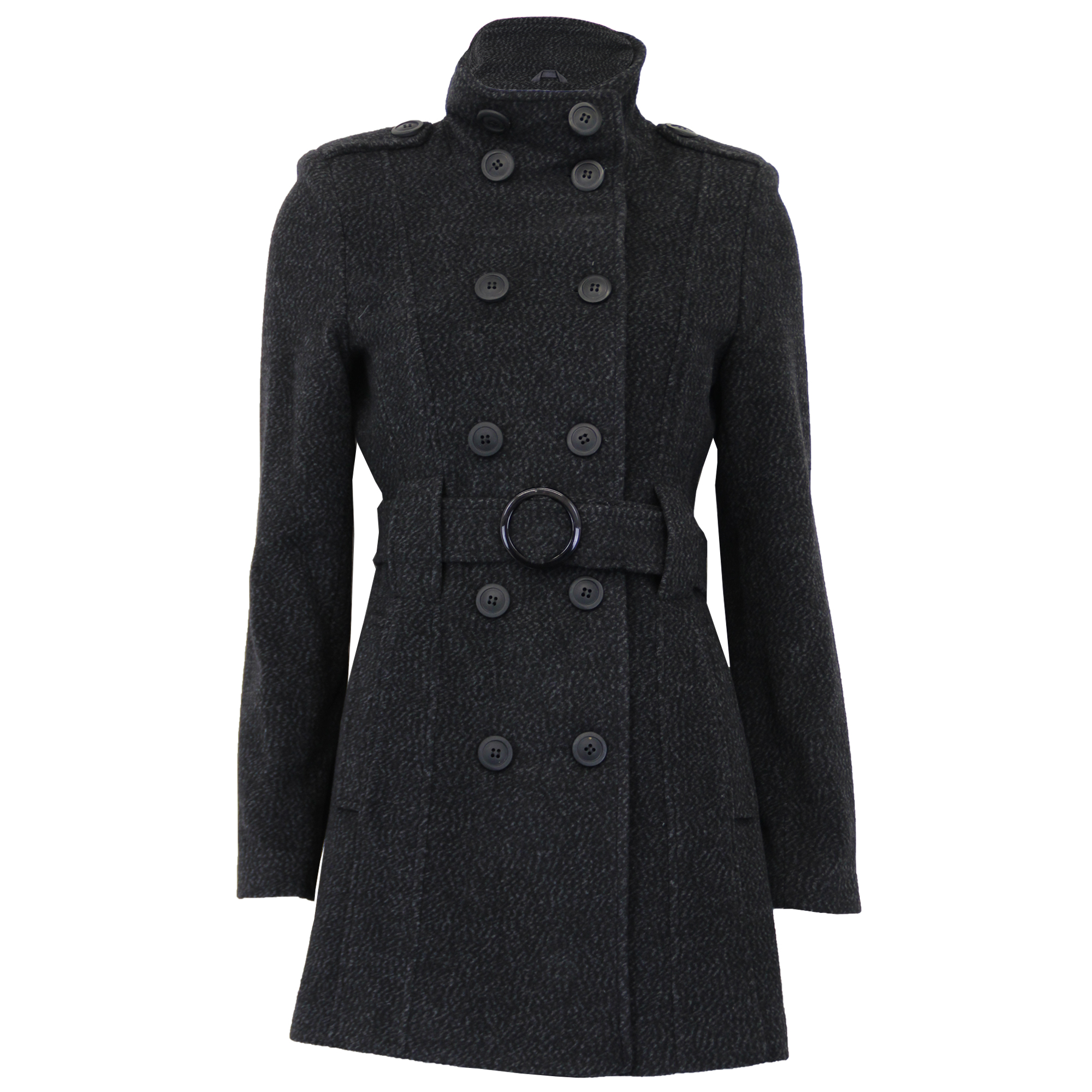 cheaper sale 2019 professional men/man Details about Ladies Wool Coat Womens Jacket Double Breasted Belt Epaulette  Military Winter