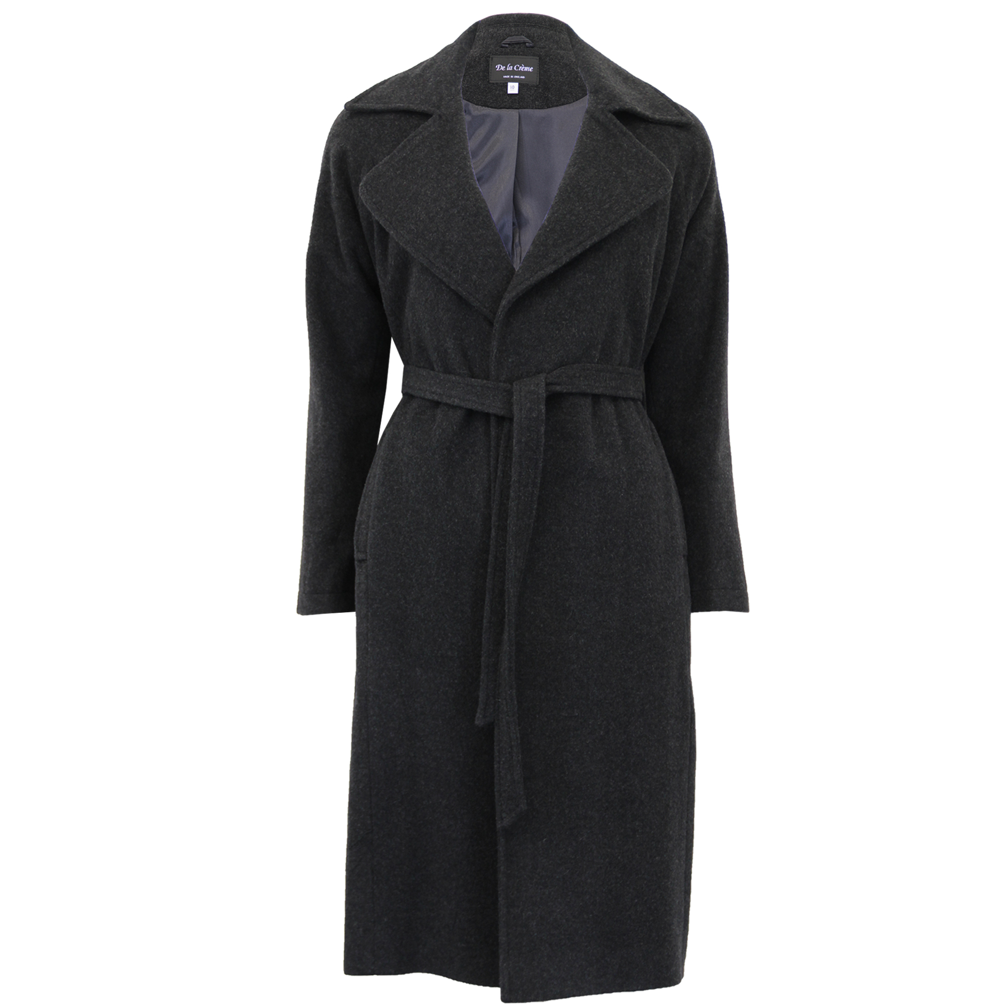 Ladies Wool Cashmere Belted Coat Womens Long Jacket Trench ...