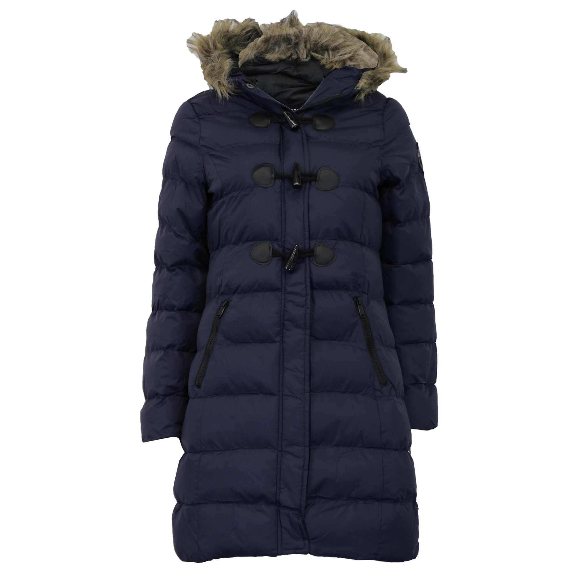 This is a nice coat. The shoulder fit is a little small because the coat is really bulky. It is warm and pretty.