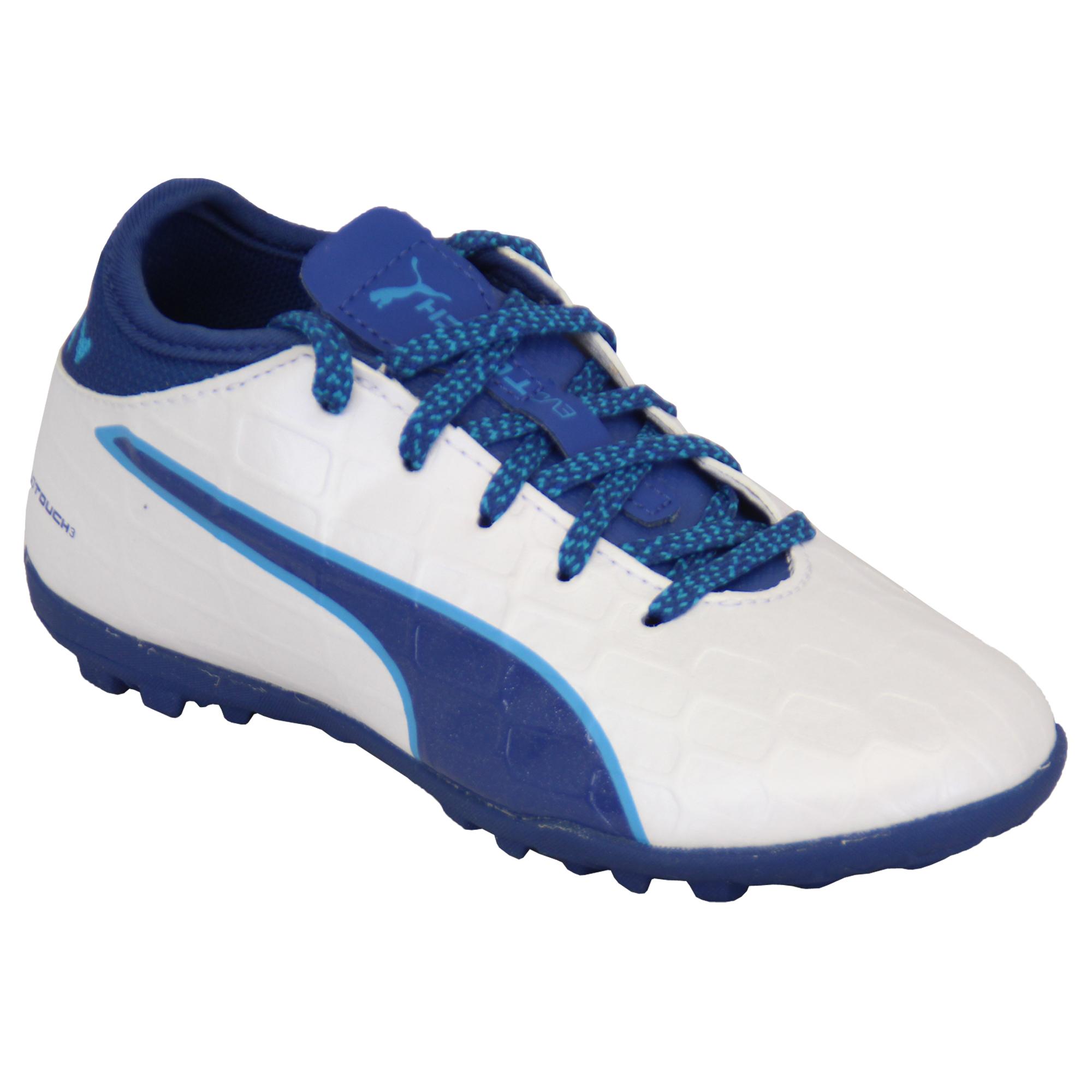 Ragazzi-Calcio-Scarpe-da-ginnastica-Puma-Bambini-Astro-Turf-Evo-Touch-Power-Stivali-Scarpe-Sportive miniatura 6