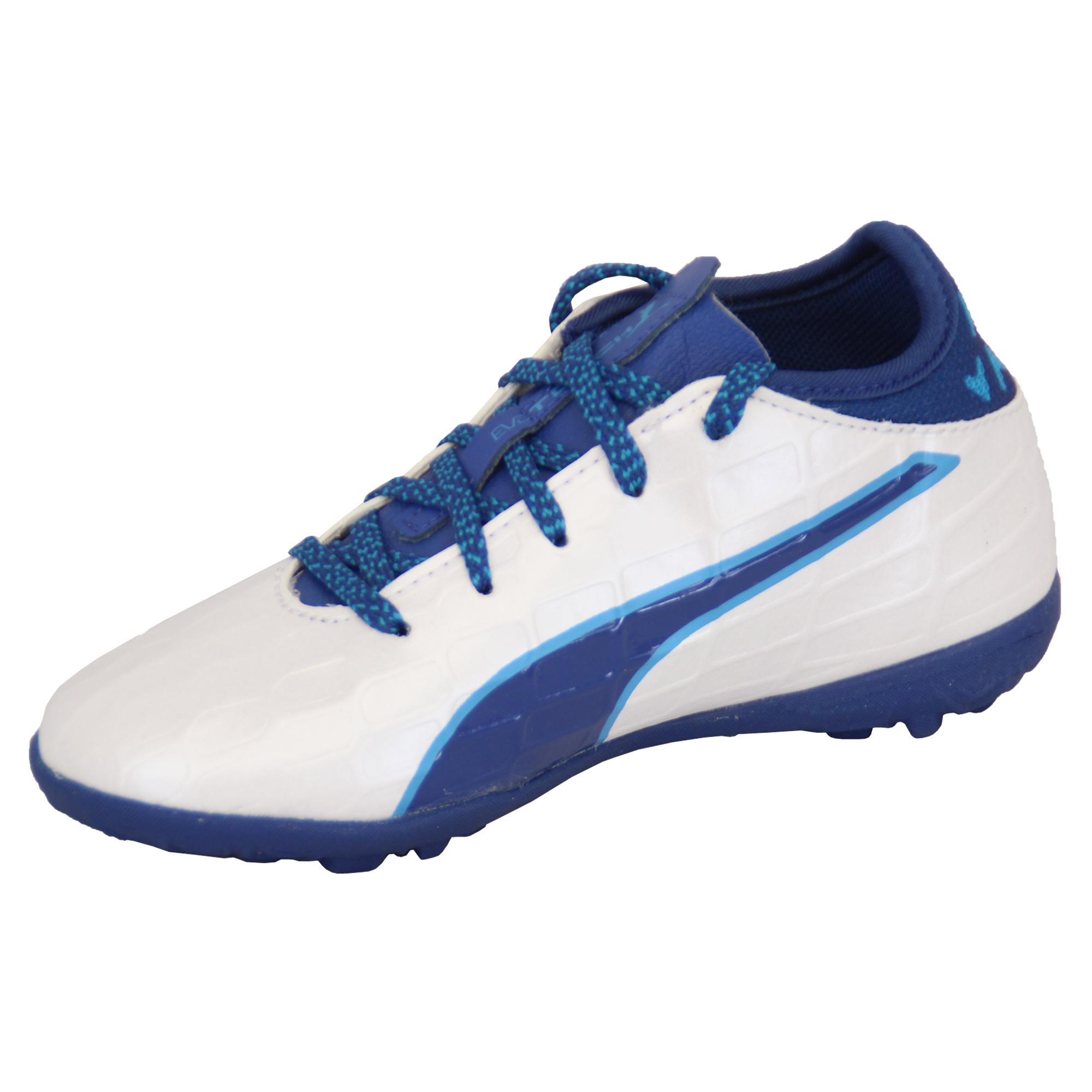 Ragazzi-Calcio-Scarpe-da-ginnastica-Puma-Bambini-Astro-Turf-Evo-Touch-Power-Stivali-Scarpe-Sportive miniatura 7