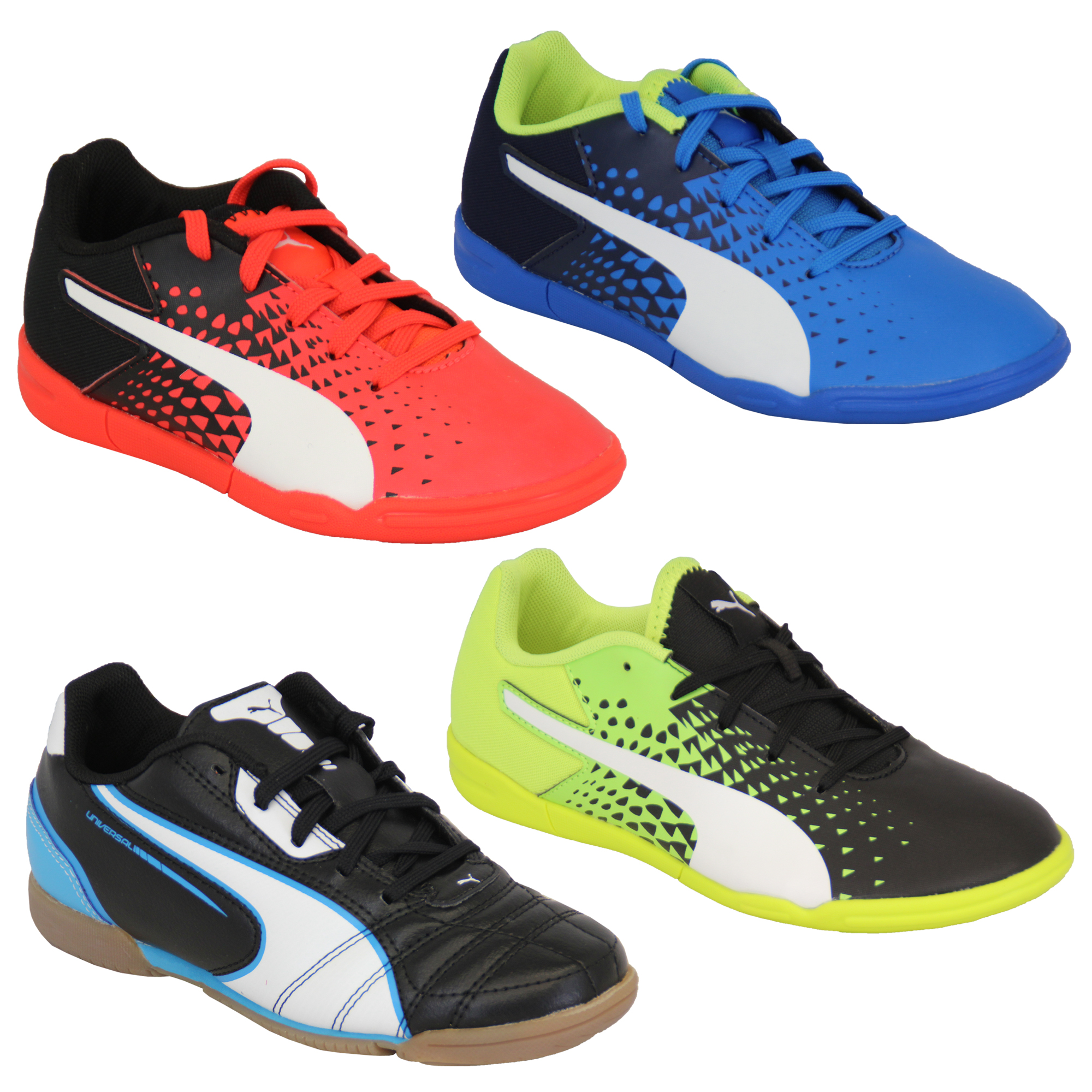 7f6aacb53ec Boys Football Trainers PUMA Kids Astro Turf Evo Speed Universal ...