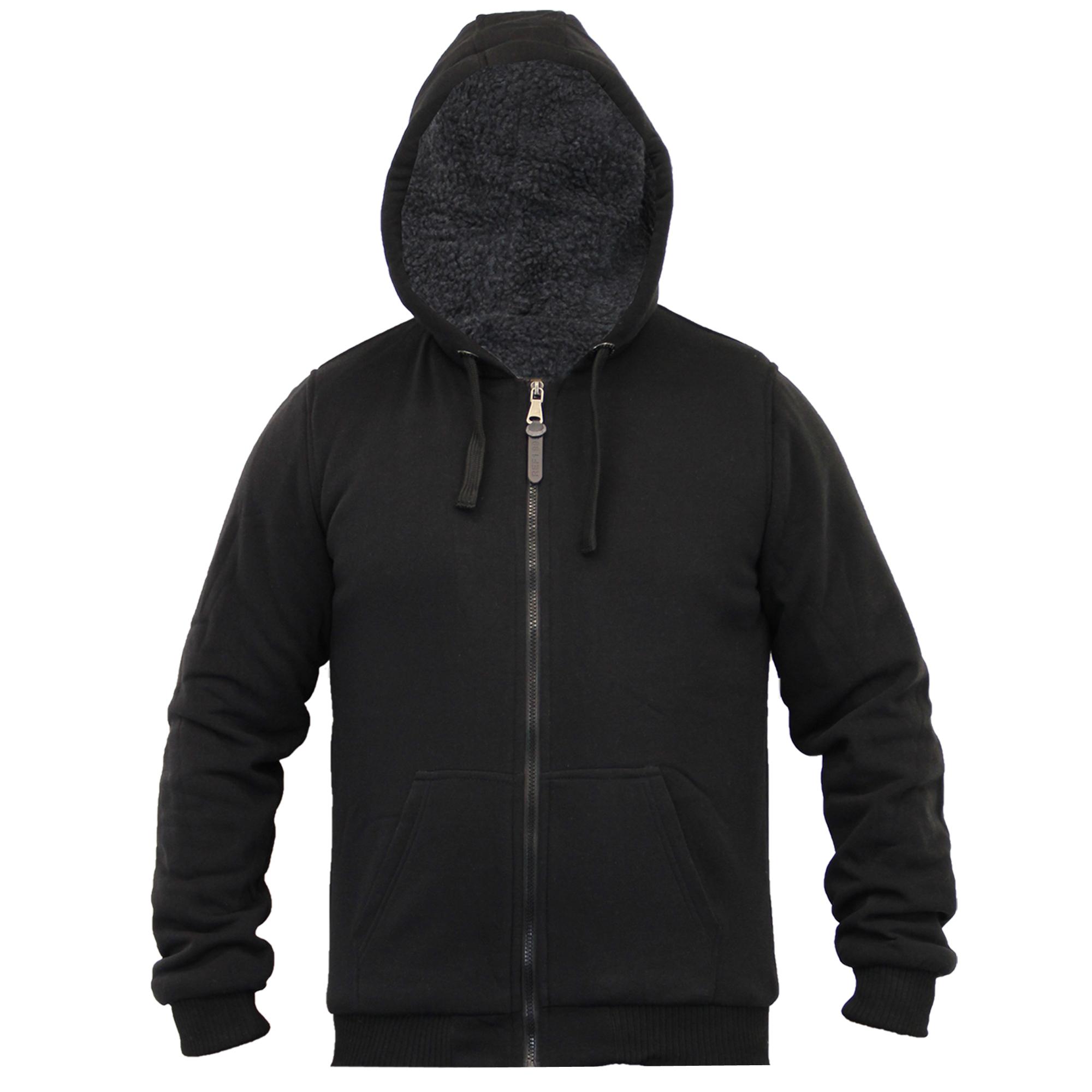 Mens Jacket Brave Soul Sweat Coat Hoodie Top Sherpa Fleece