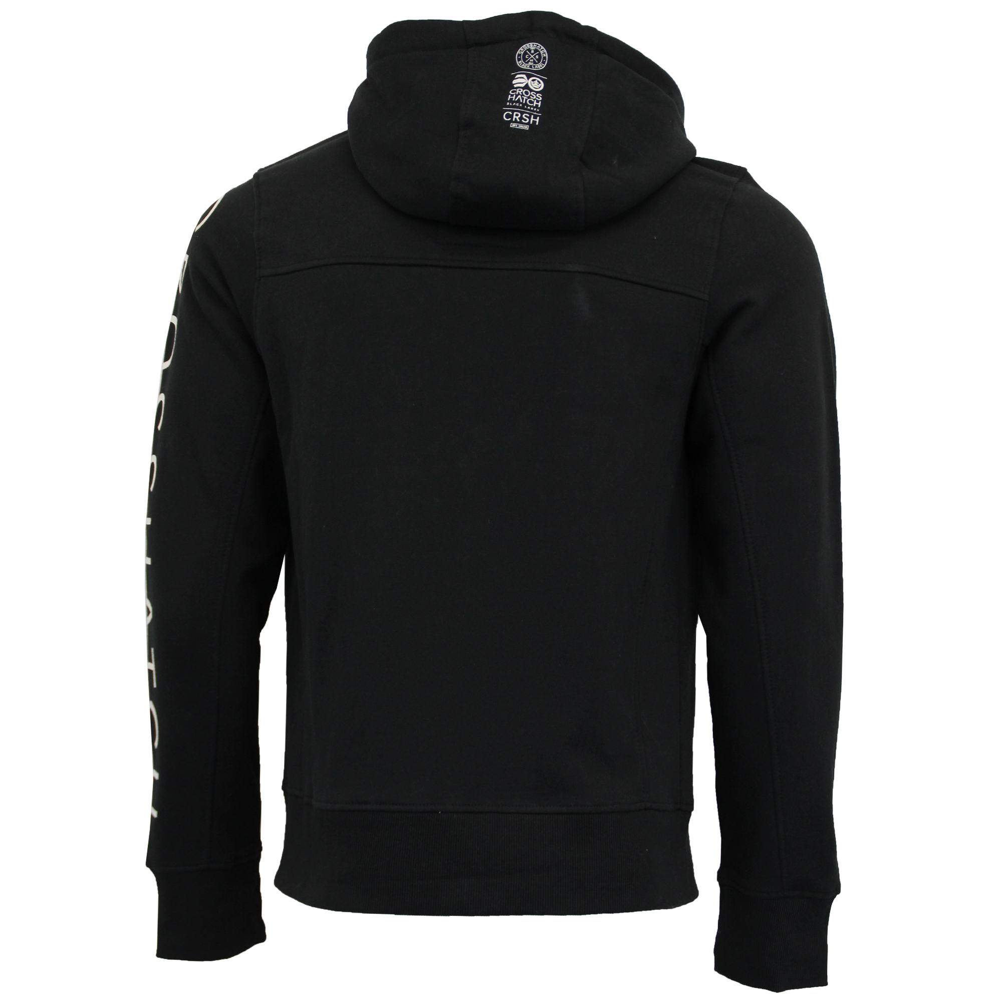 Mens-Sweatshirt-Crosshatch-Hoodie-Top-Embossed-Logo-Print-Sweat-Fleece-Lined-New thumbnail 4
