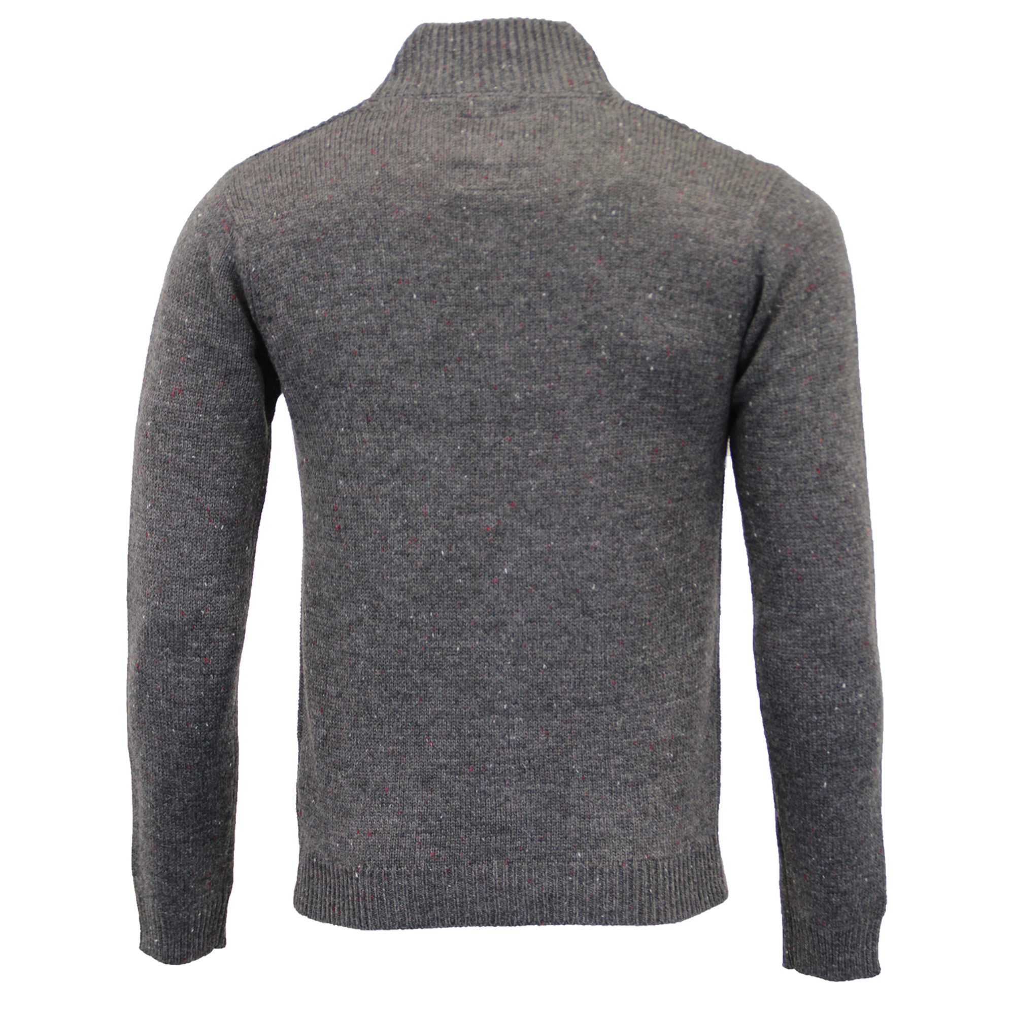 Mens-Wool-Mix-Jumper-Threadbare-Knitted-Sweater-Pullover-Top-Chunky-Zip-Winter thumbnail 9